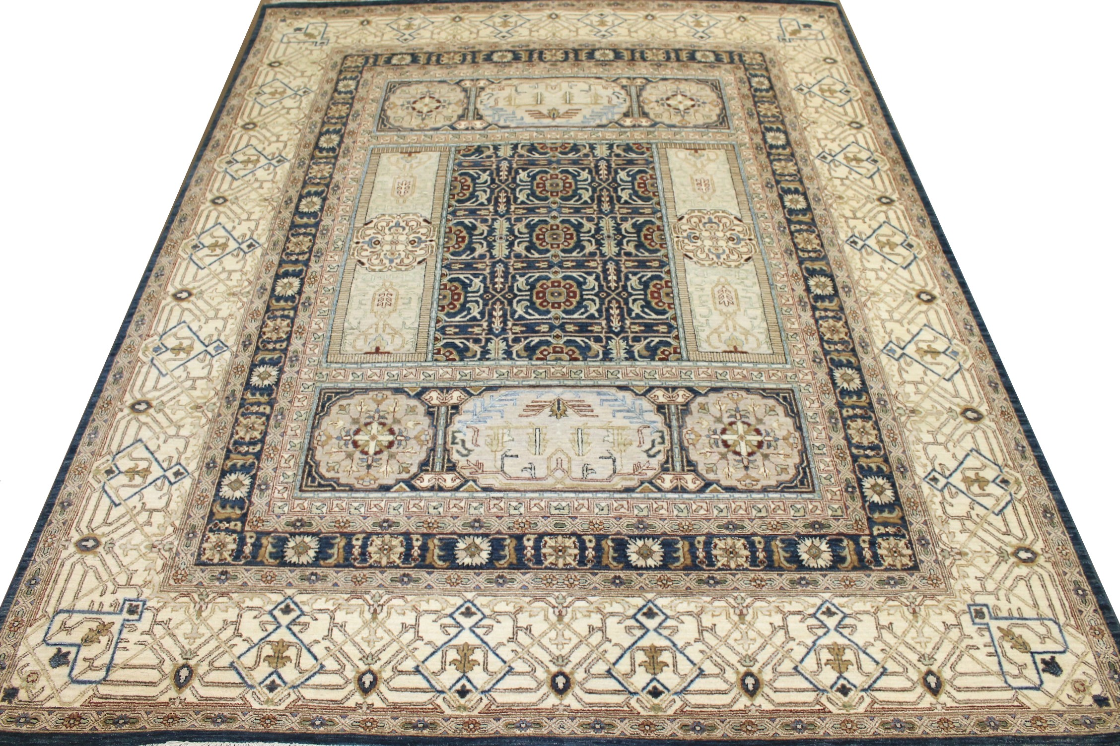 8x10 Oriental Hand Knotted Wool Area Rug - MR025463