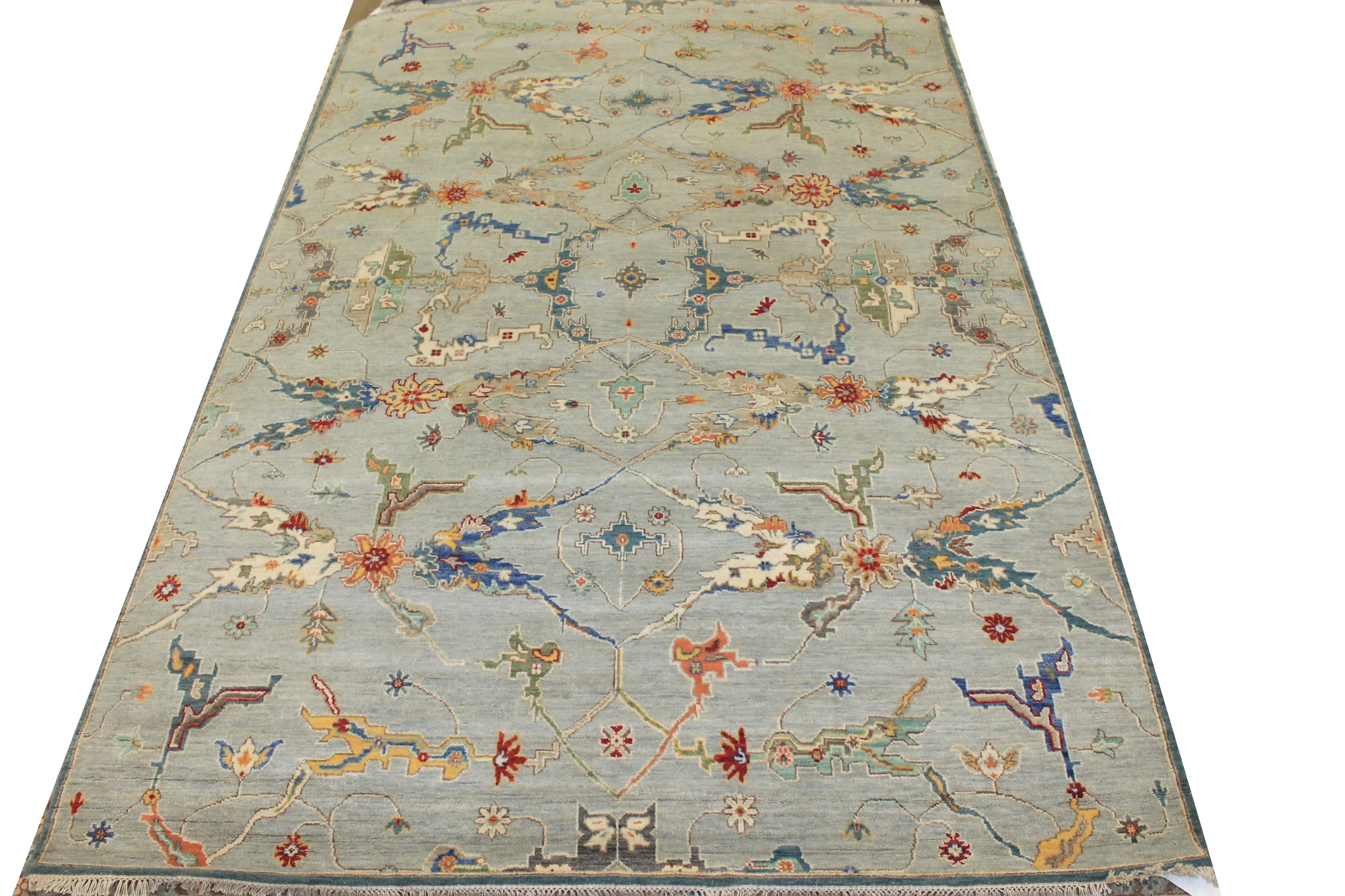 6x9 Oriental Hand Knotted Wool Area Rug - MR025486