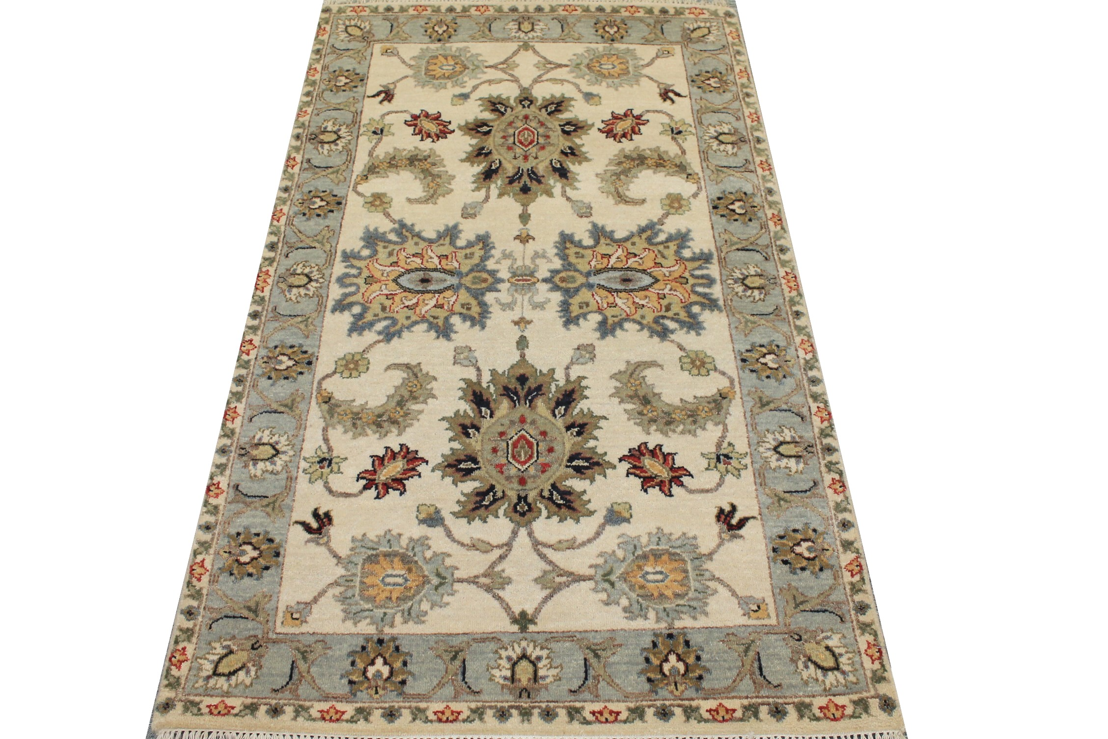 3x5 Oriental Hand Knotted Wool Area Rug - MR025493