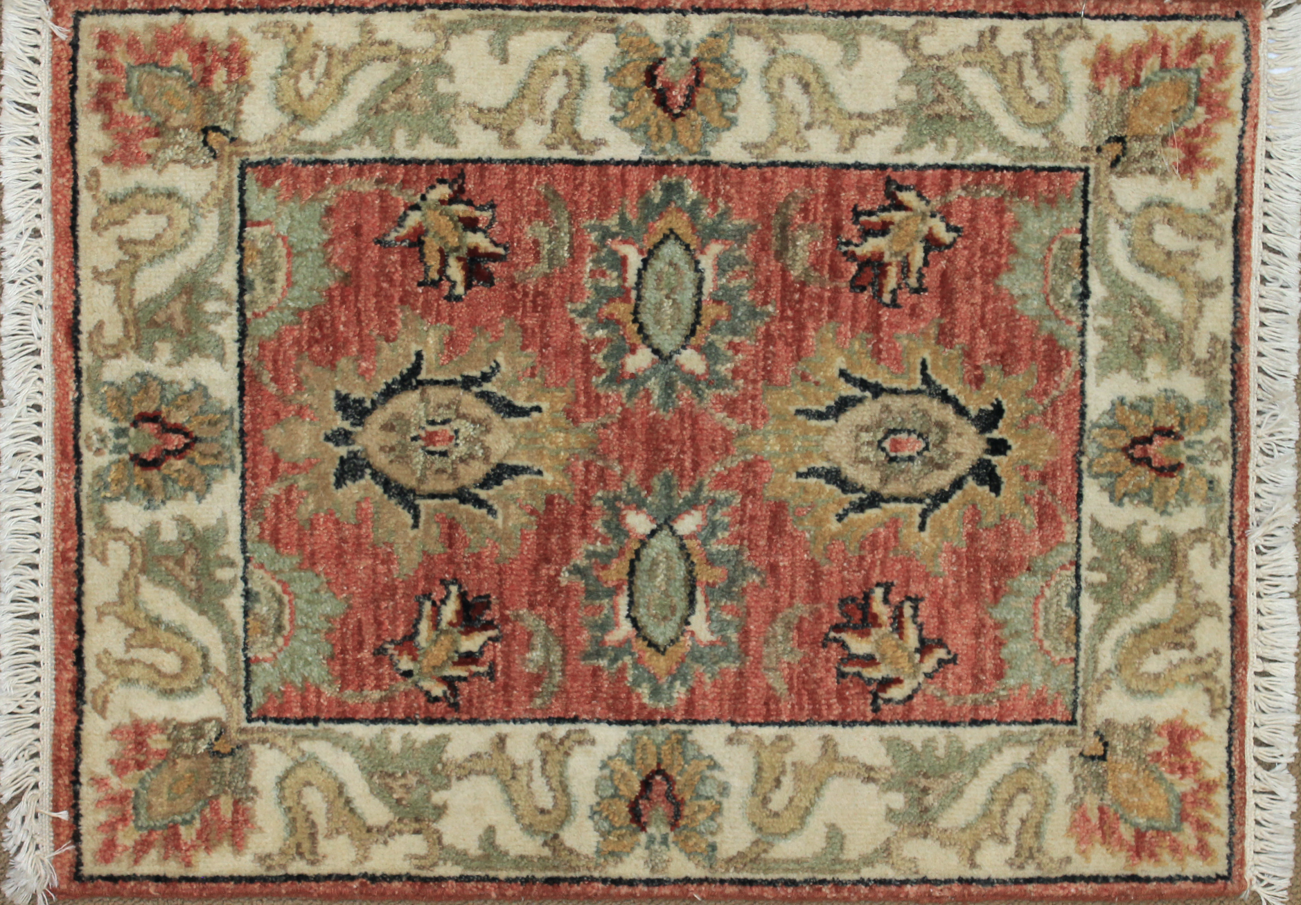 1.6X2 & Smaller Oriental Hand Knotted Wool Area Rug - MR025517