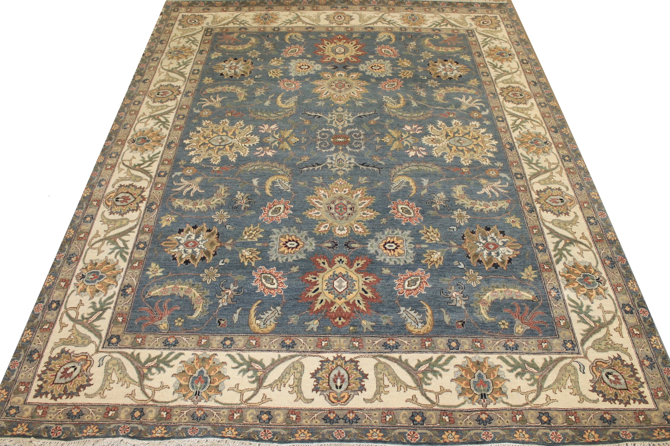 8x10 Oriental Hand Knotted Wool Area Rug - MR025520