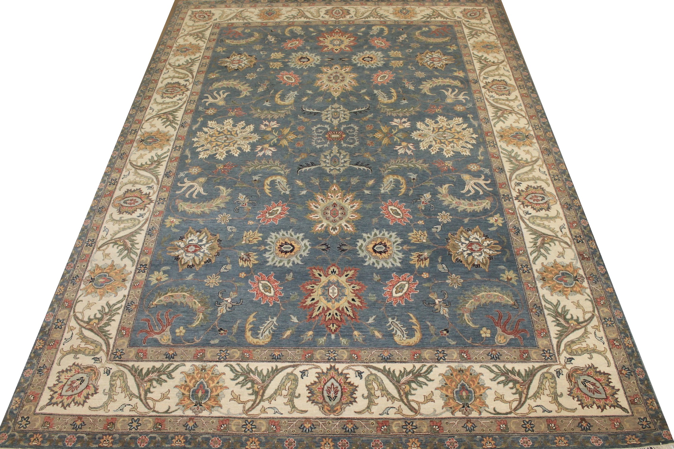 10x14 Oriental Hand Knotted Wool Area Rug - MR025525