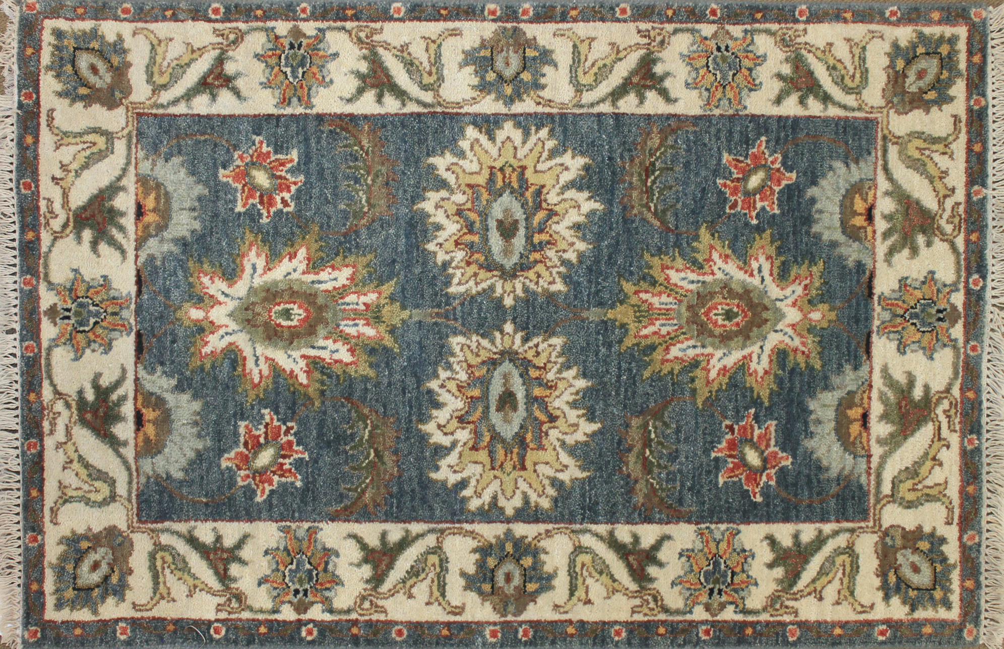 2X3 Oriental Hand Knotted Wool Area Rug - MR025528