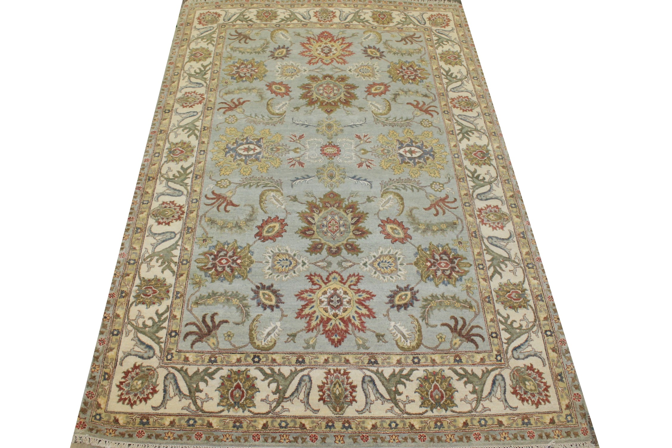6x9 Oriental Hand Knotted Wool Area Rug - MR025532