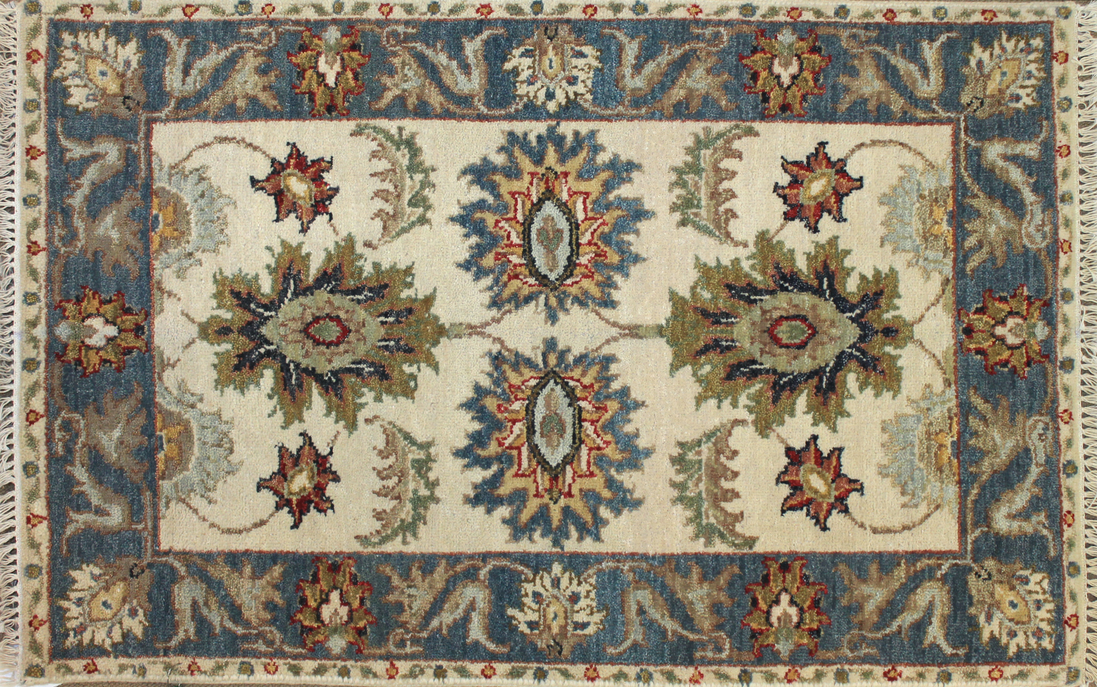 2X3 Oriental Hand Knotted Wool Area Rug - MR025537