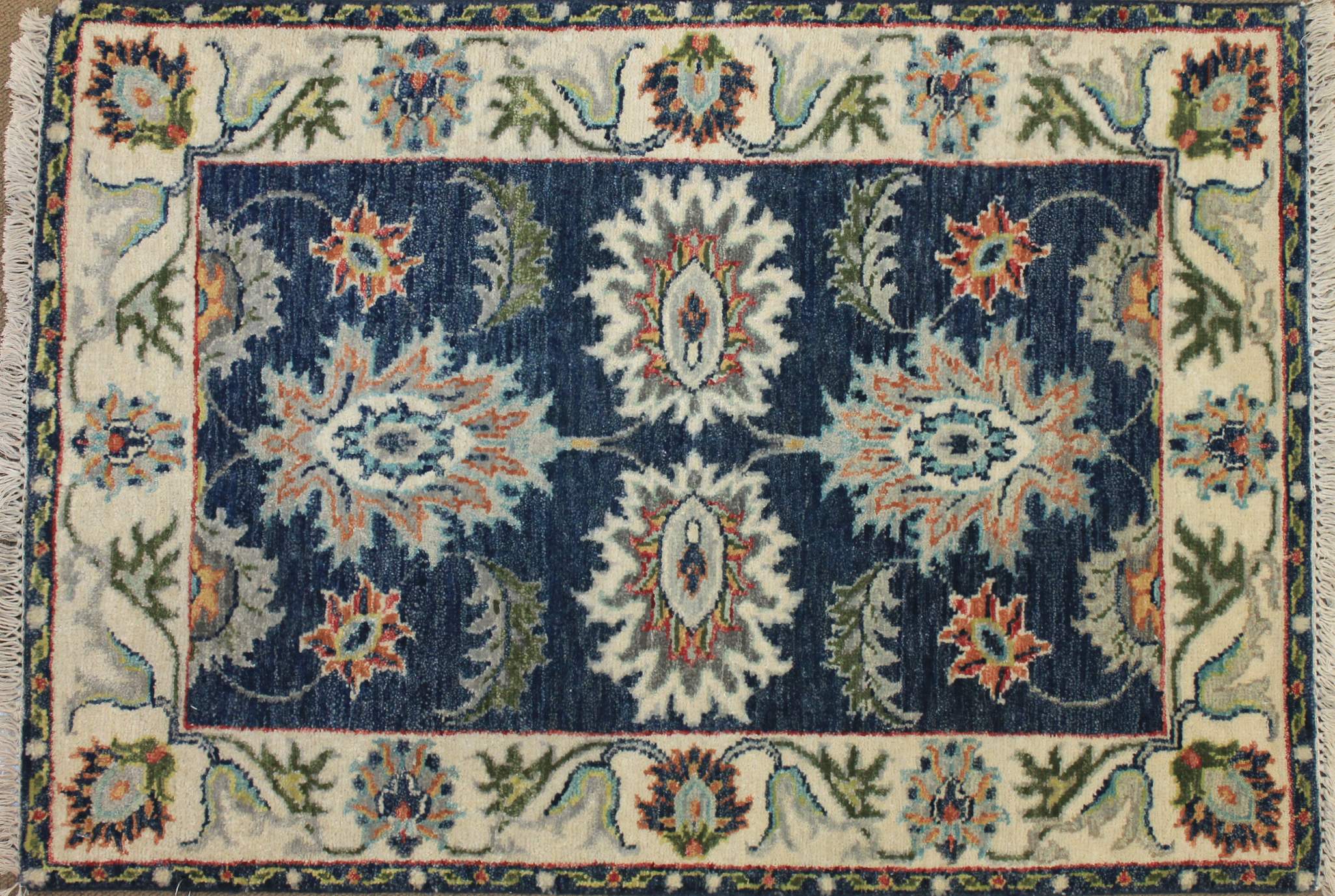 2X3 Oriental Hand Knotted Wool Area Rug - MR025546