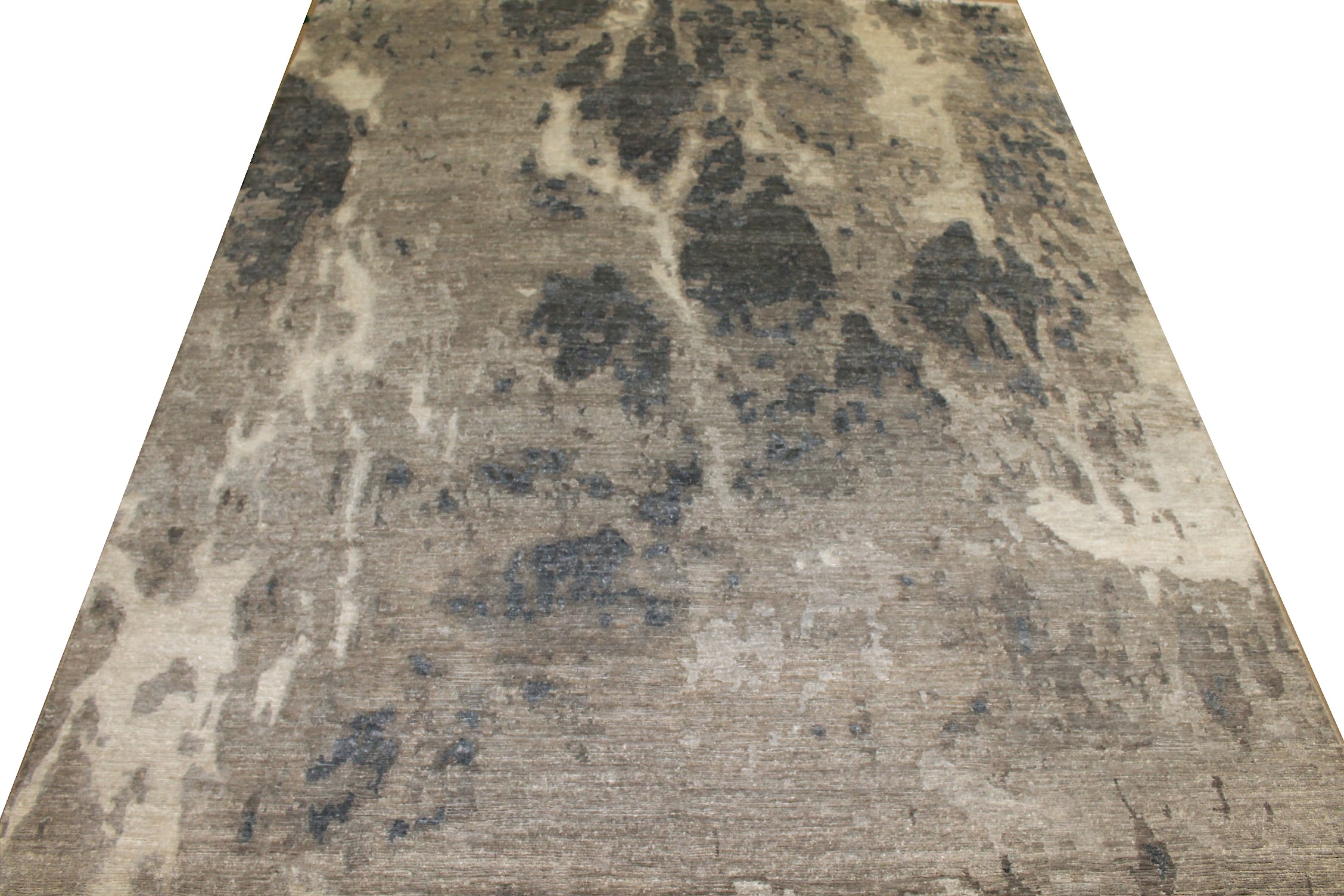 8x10 Modern Hand Knotted Wool & Viscose Area Rug - MR025548