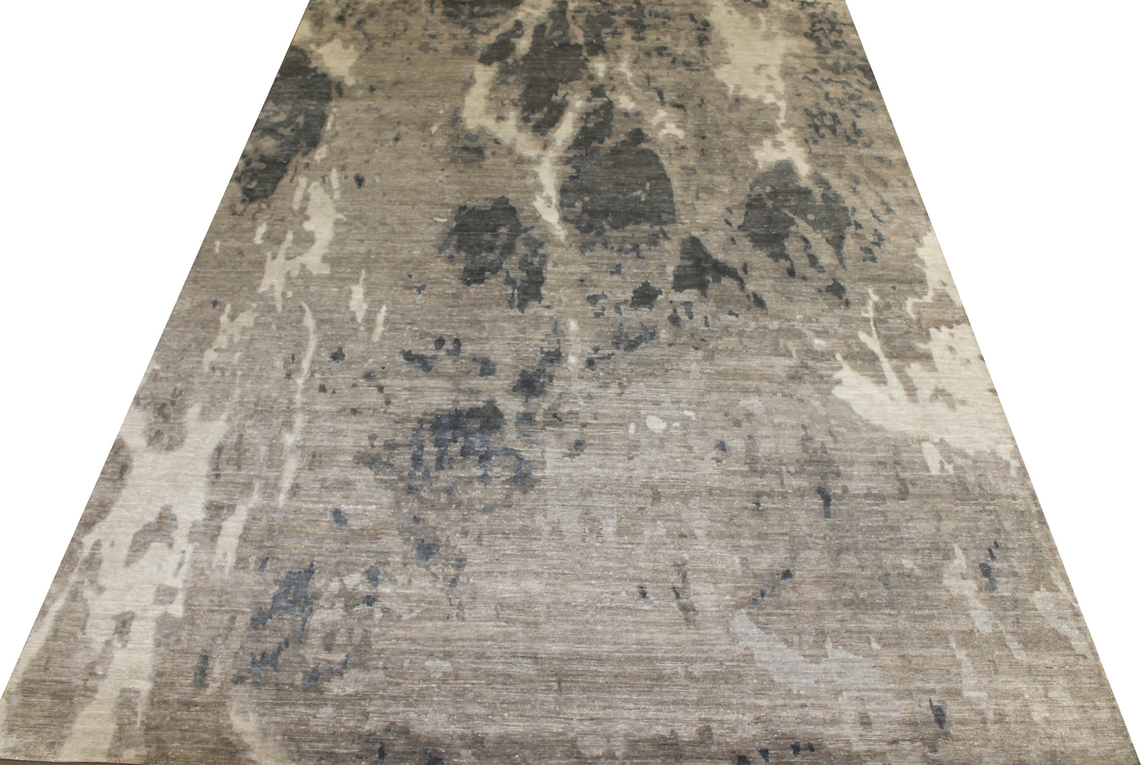 10x14 Modern Hand Knotted Wool & Viscose Area Rug - MR025553