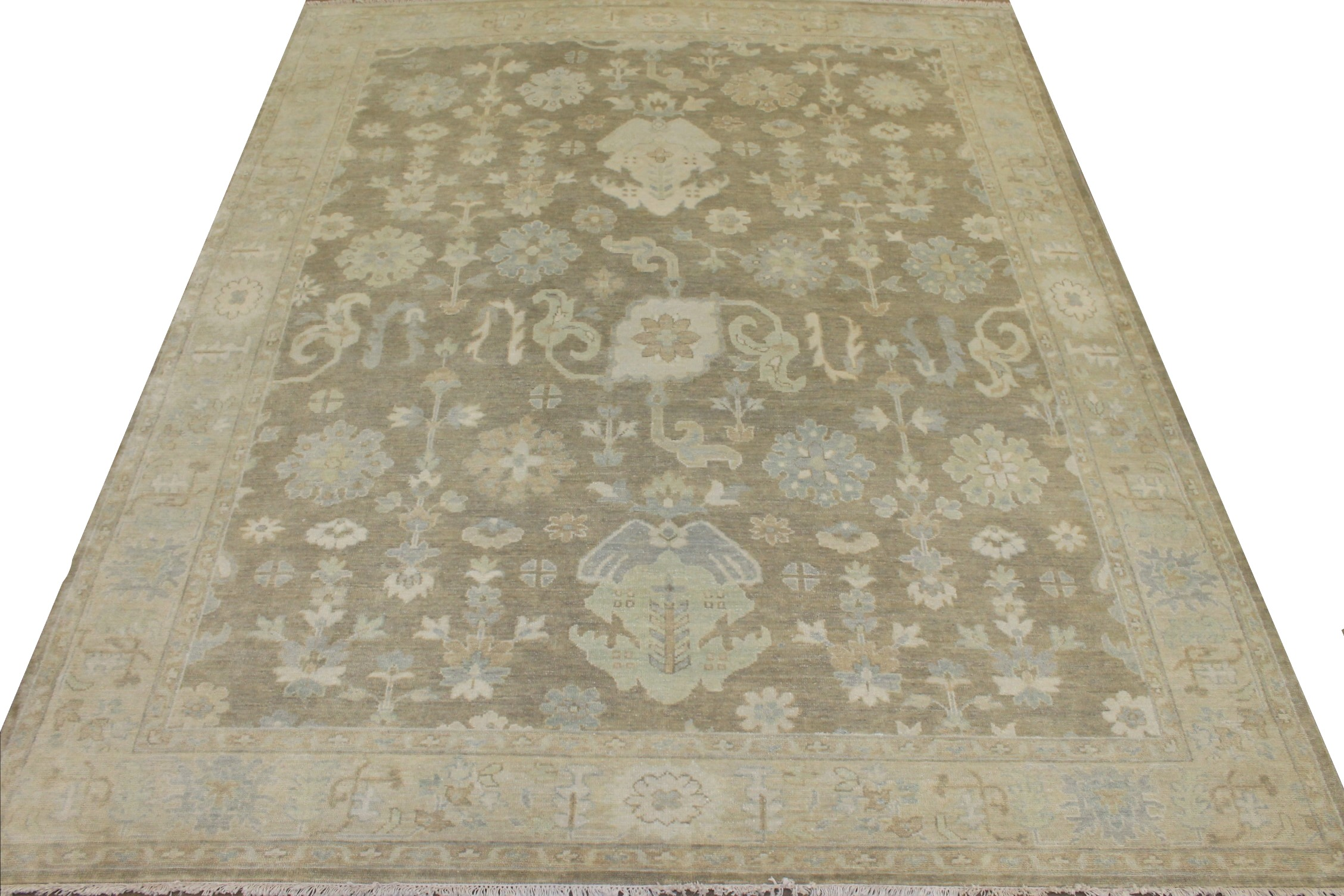 8x10 Oushak Hand Knotted Wool Area Rug - MR025554