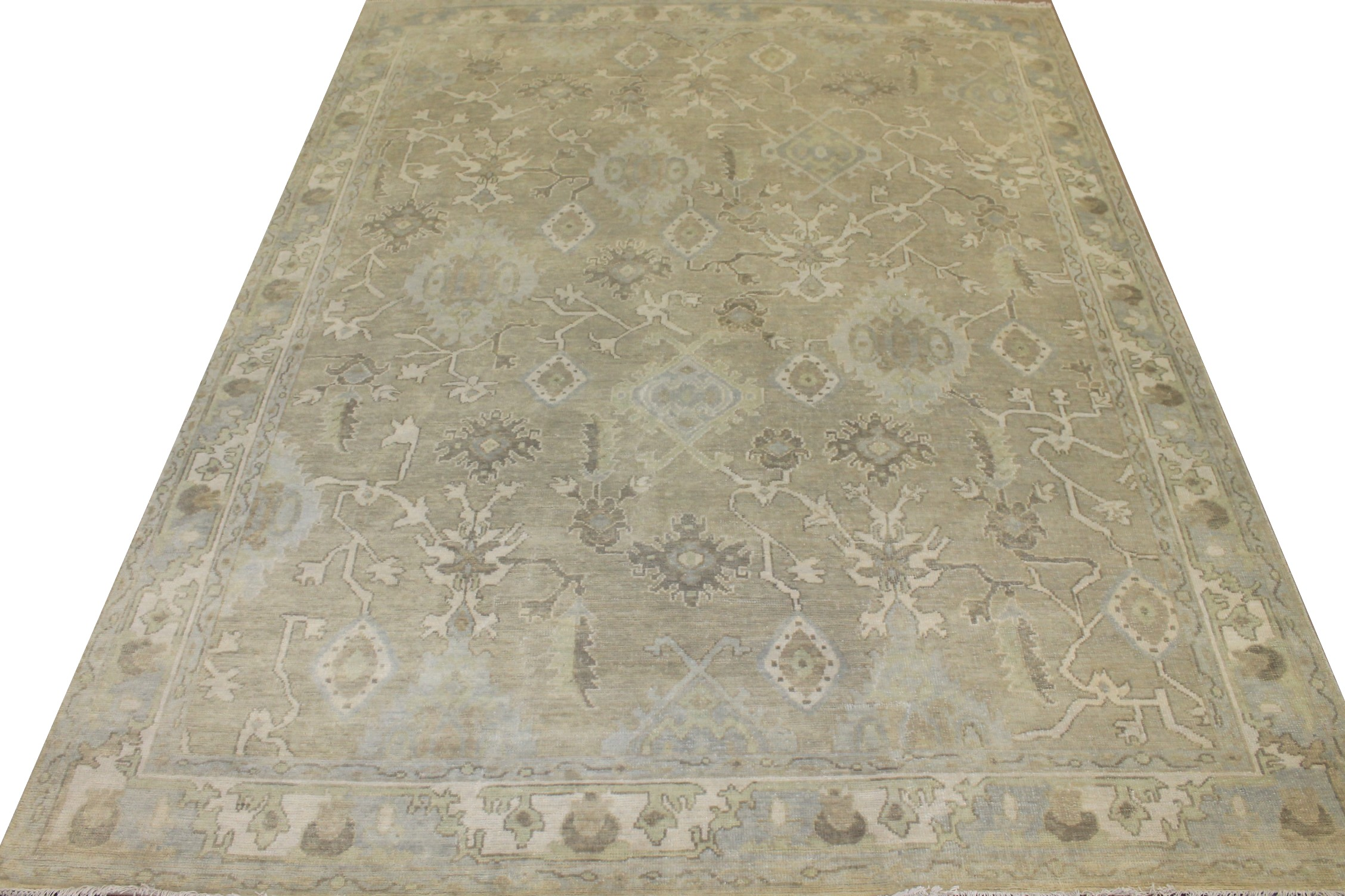 8x10 Oushak Hand Knotted Wool Area Rug - MR025556