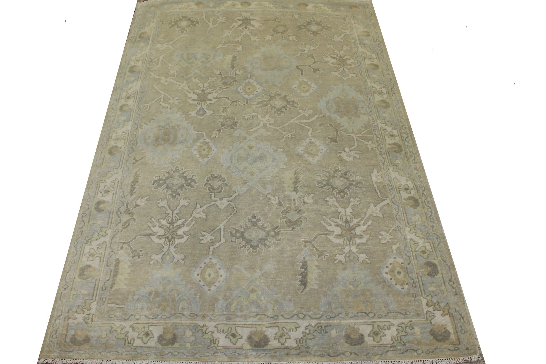 6x9 Oushak Hand Knotted Wool Area Rug - MR025561