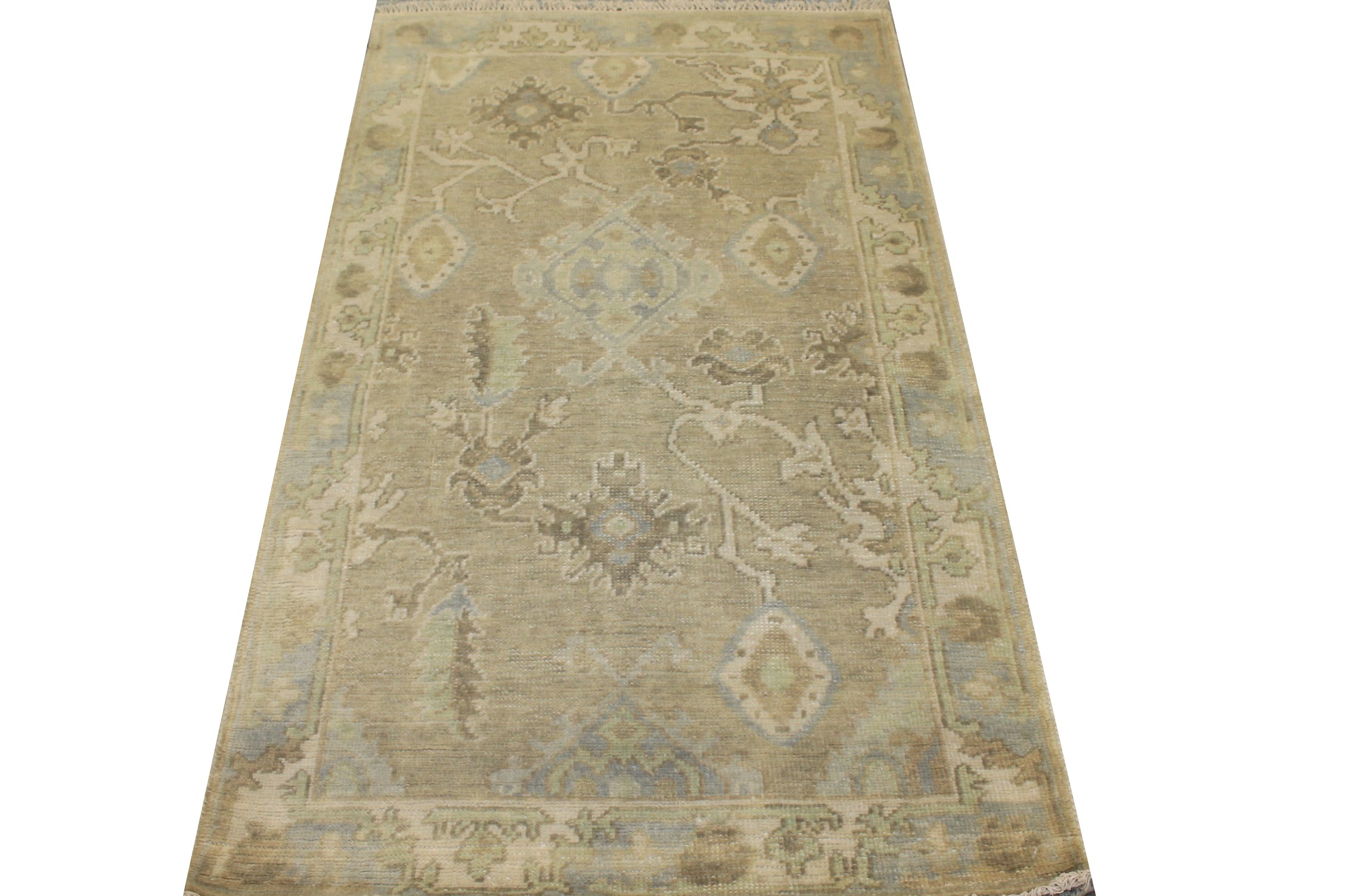 3x5 Oushak Hand Knotted Wool Area Rug - MR025573