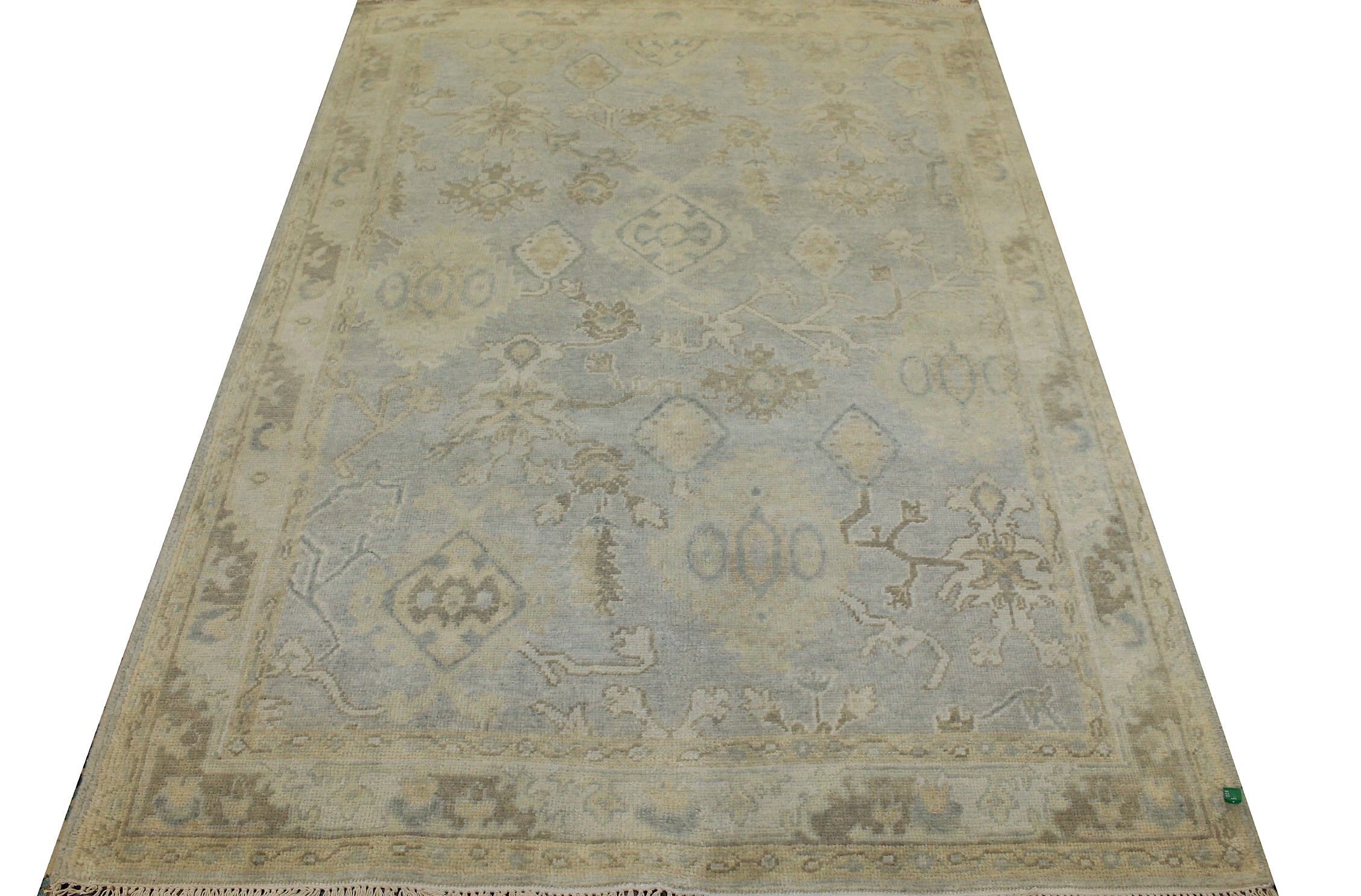 5x7/8 Oushak Hand Knotted Wool Area Rug - MR025574