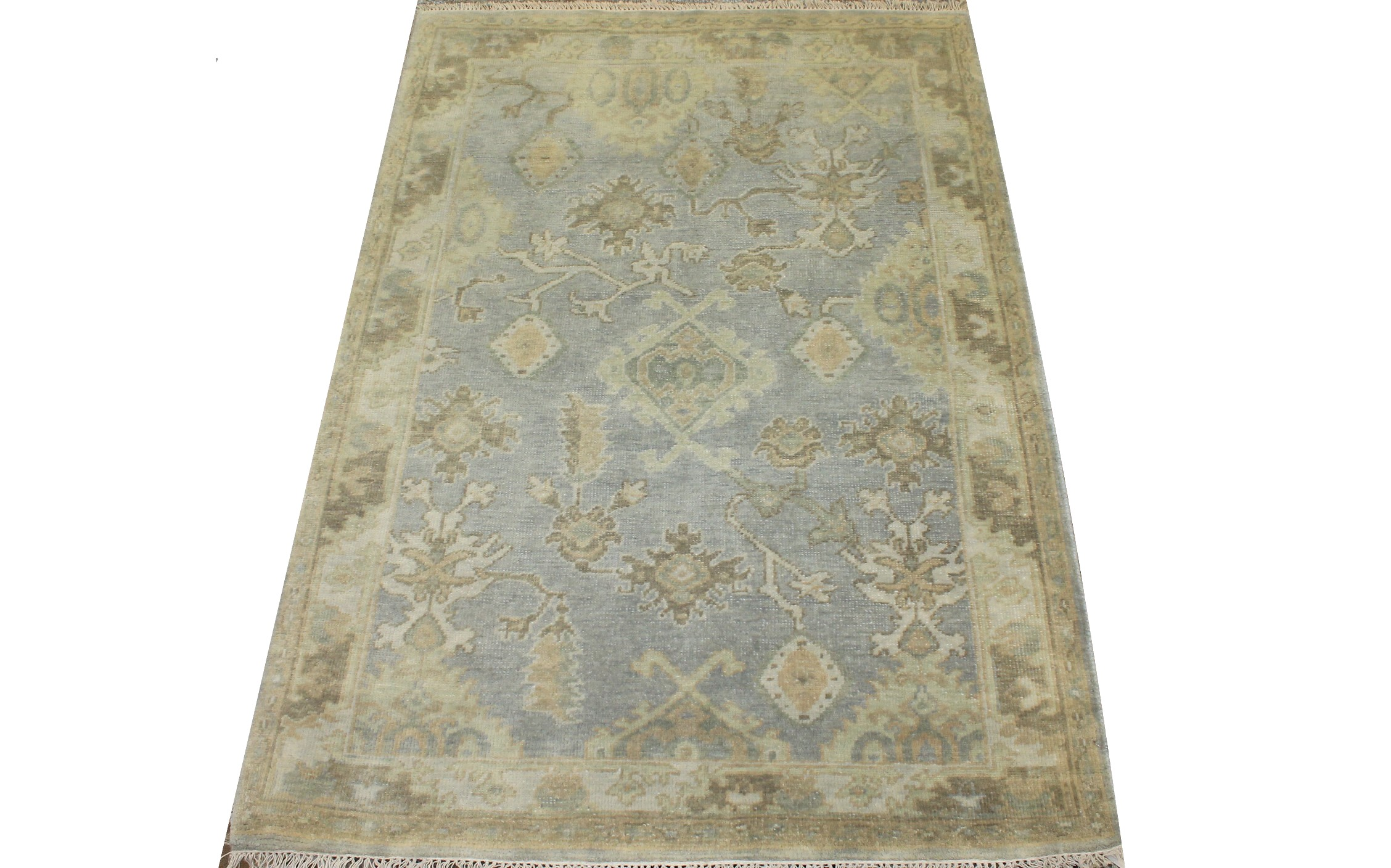 4x6 Oushak Hand Knotted Wool Area Rug - MR025583