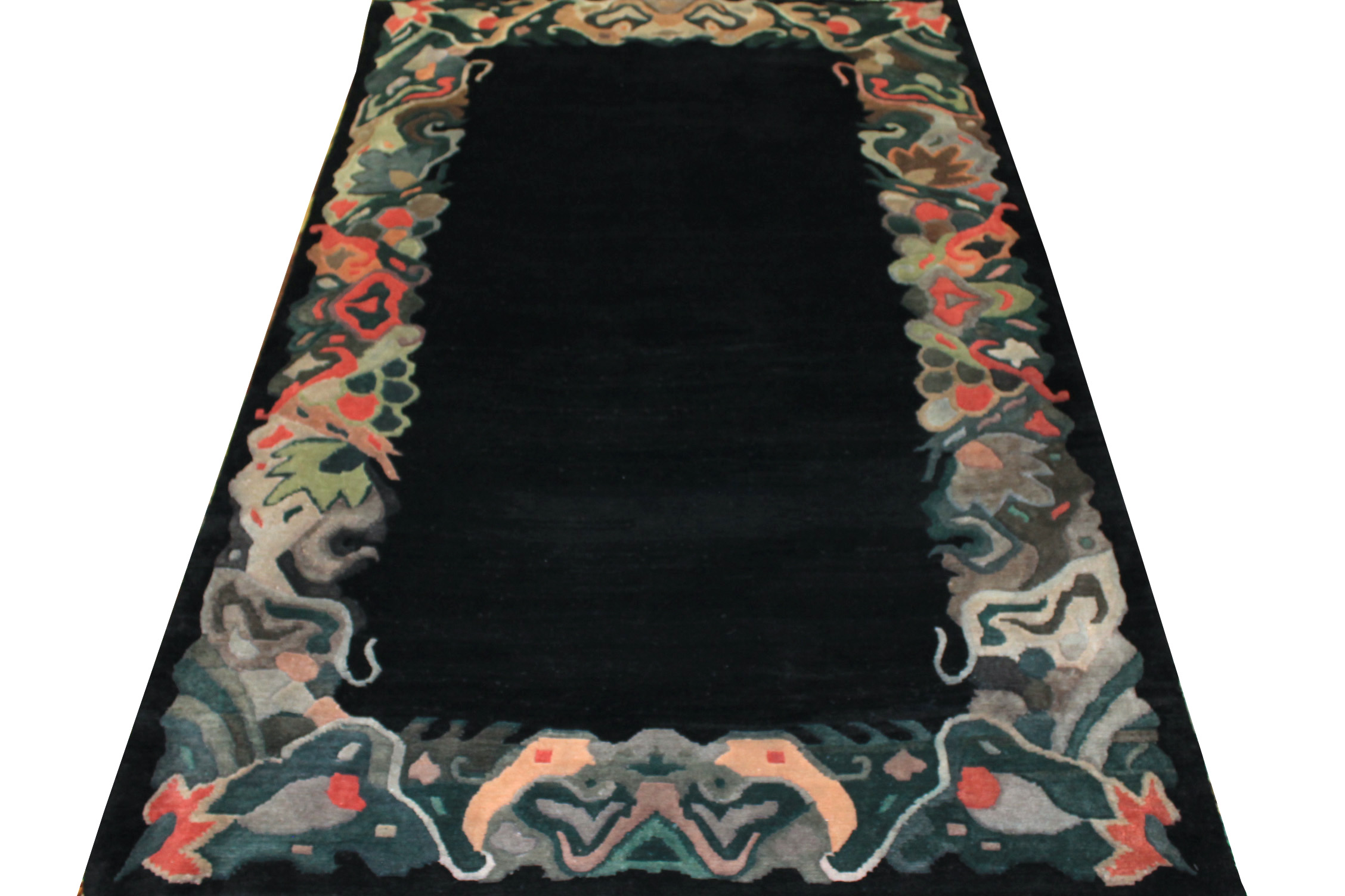 6x9 Contemporary Hand Knotted Wool Area Rug - MR0275