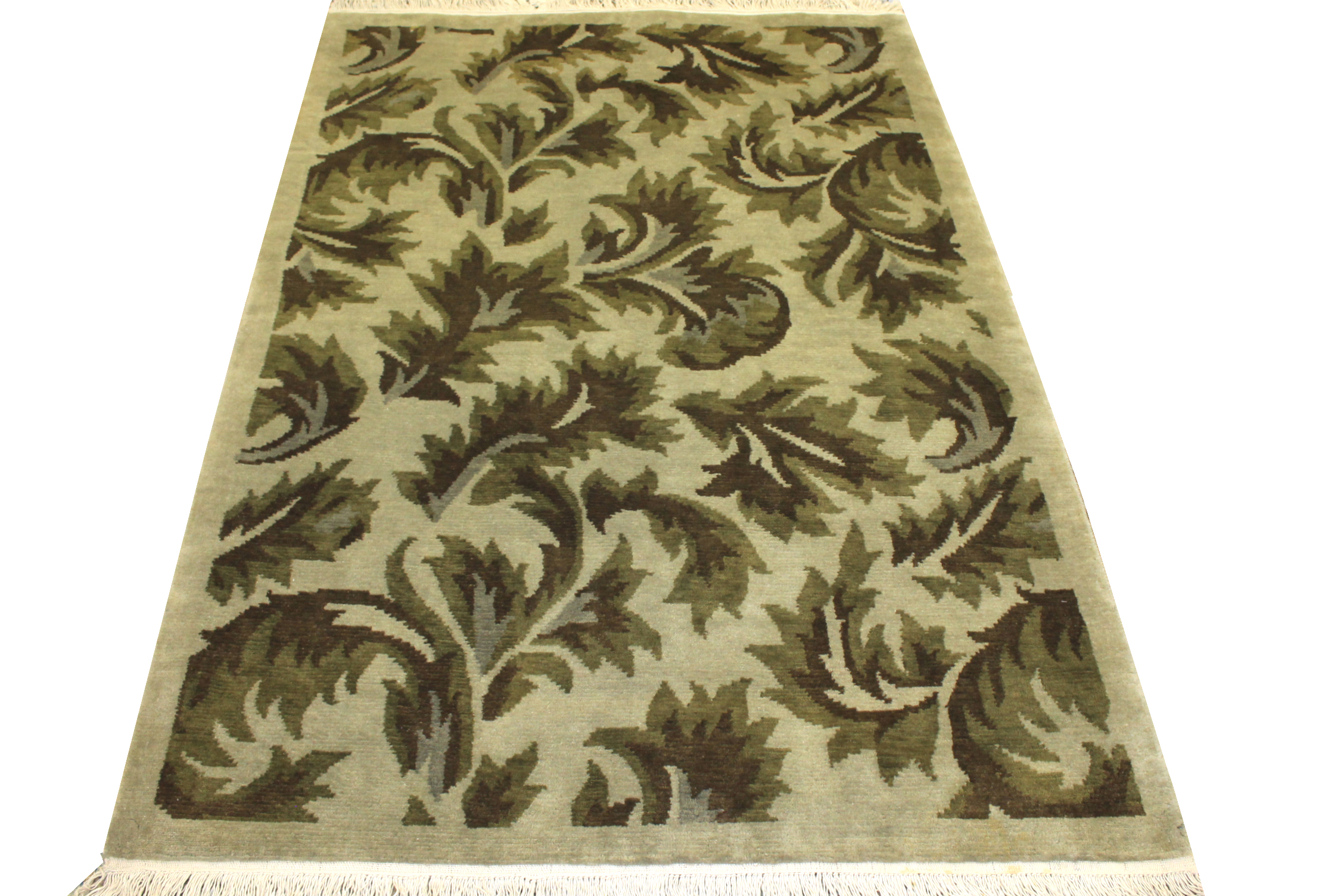4x6 Traditional Hand Knotted Wool Area Rug - MR0286