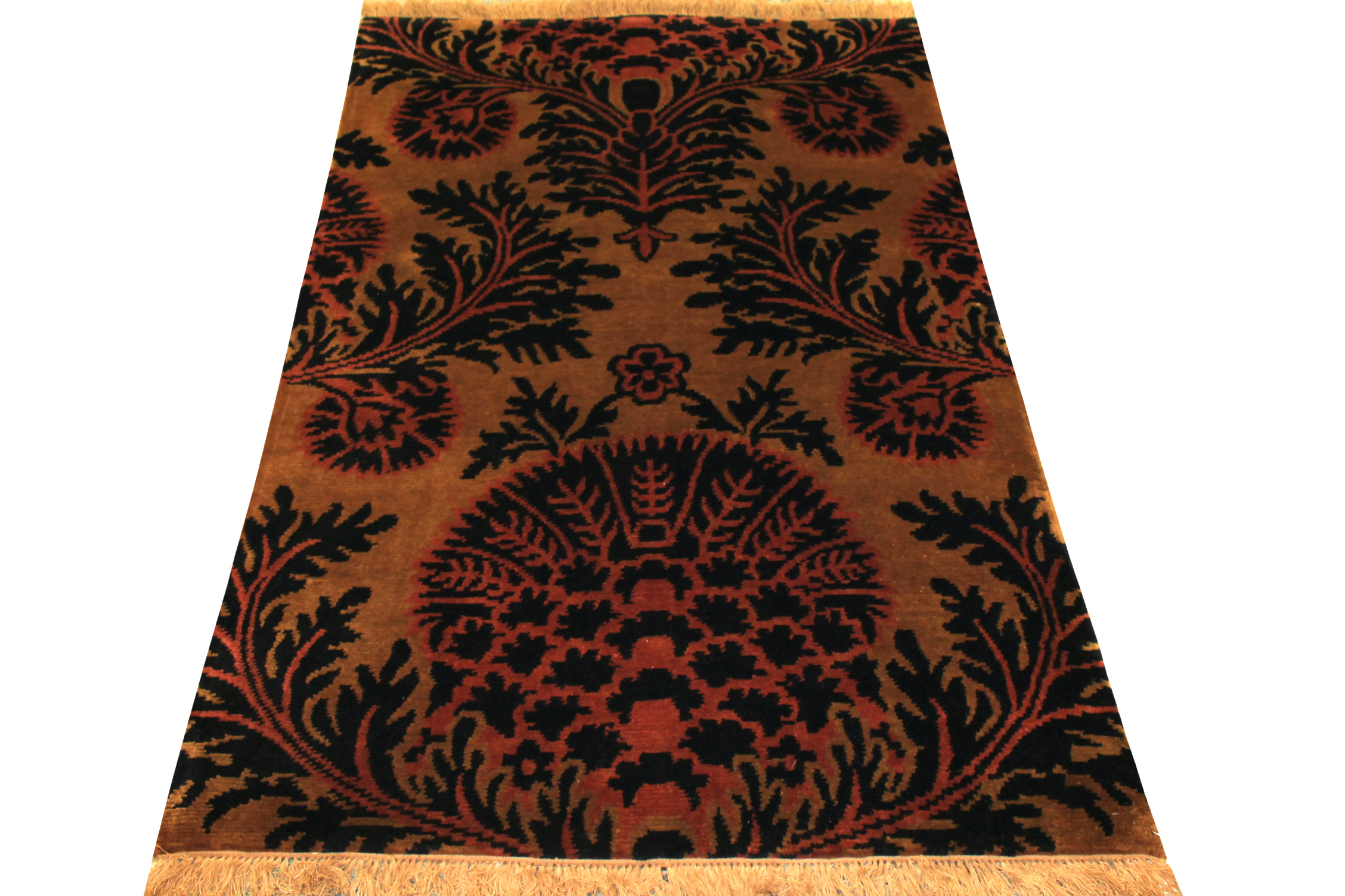 4x6 Contemporary Hand Knotted Wool Area Rug - MR0288