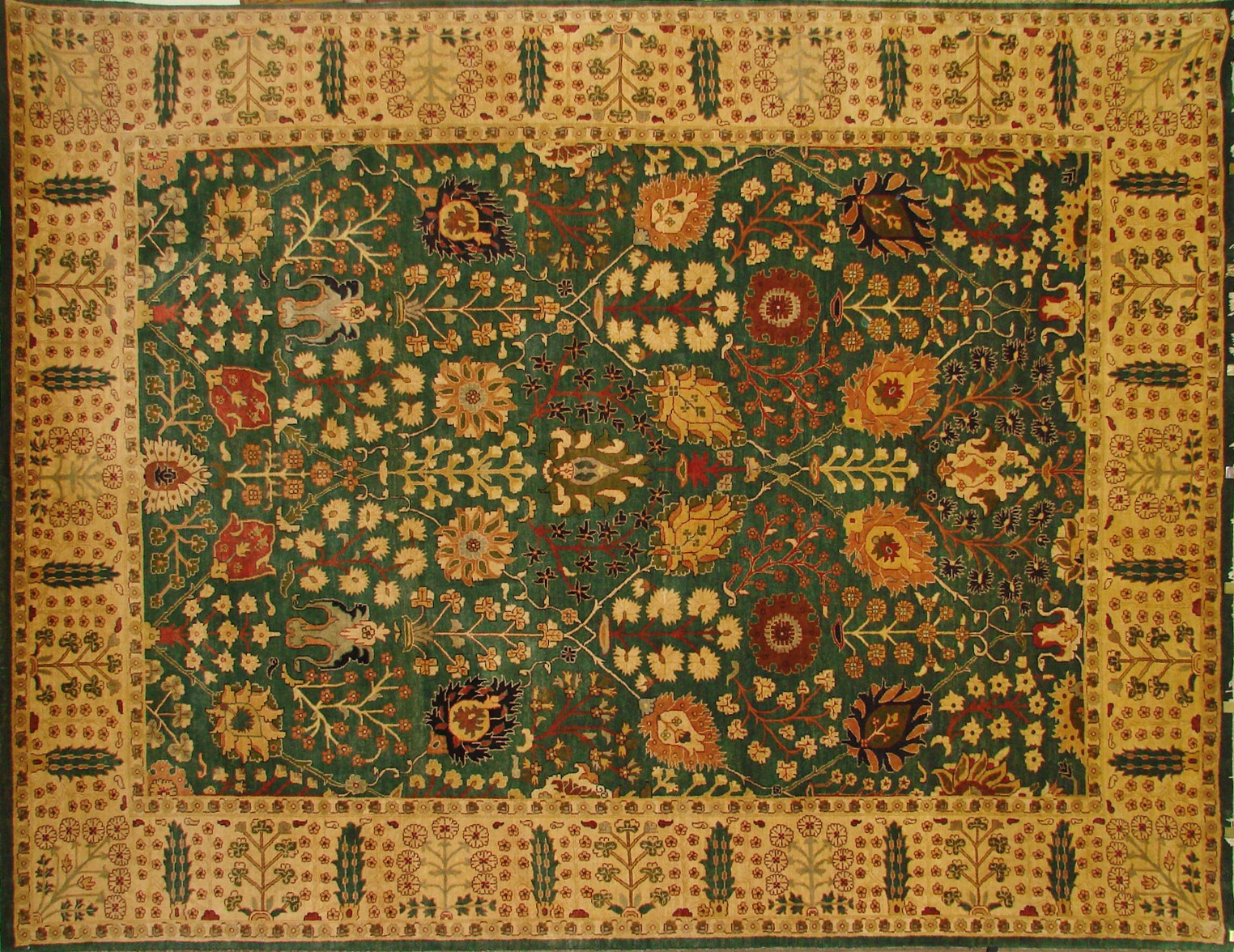9x12 Traditional Hand Knotted Wool Area Rug - MR0335