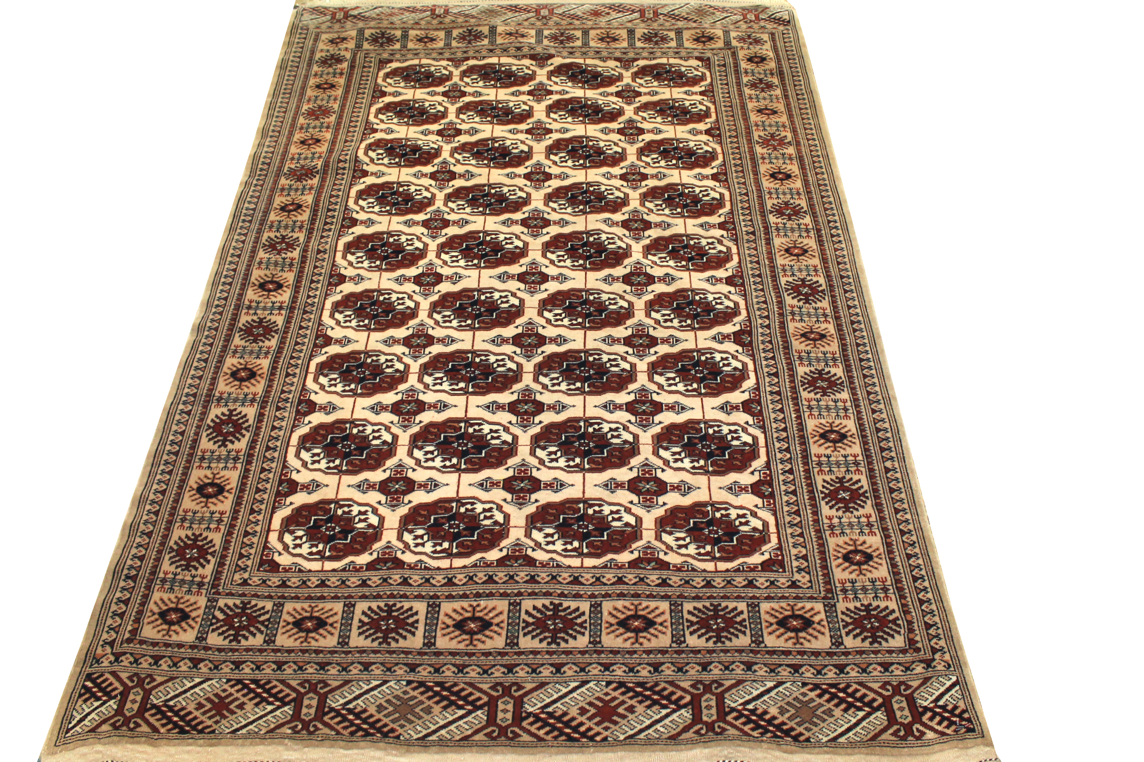 5x7/8 Bokhara Hand Knotted Wool Area Rug - MR0568