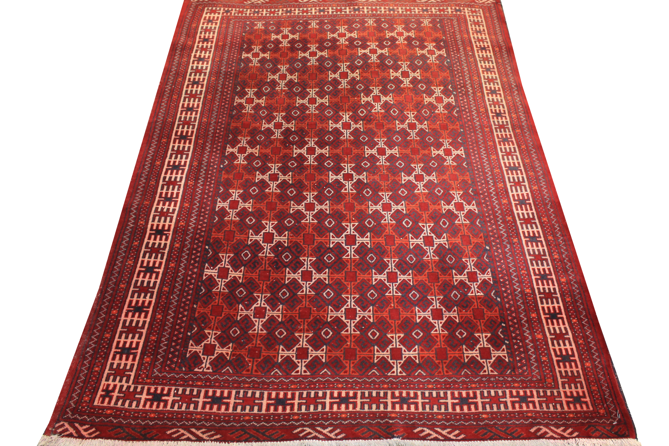 4x6 Kazak Hand Knotted Wool Area Rug - MR0569