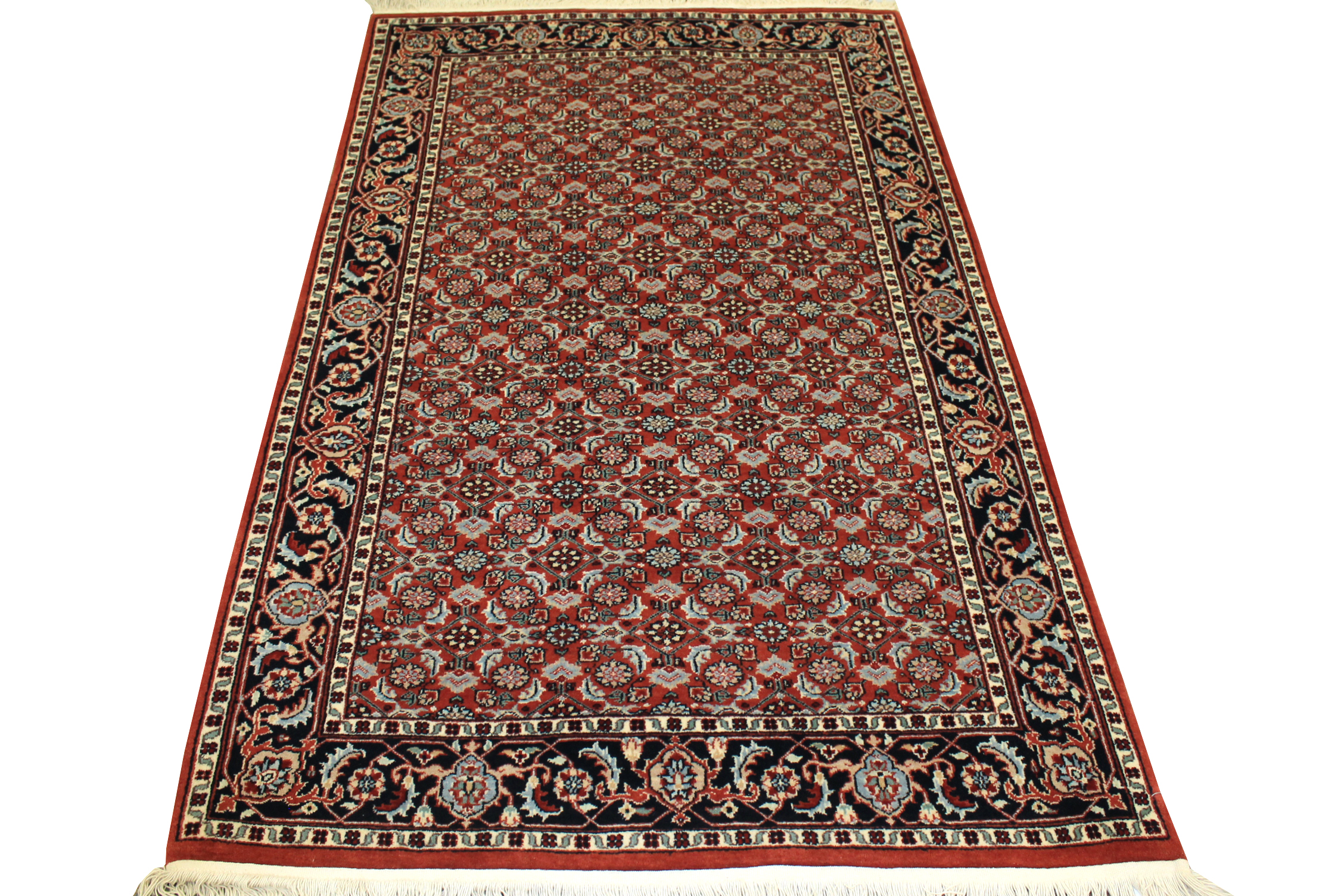 4x6 Traditional Hand Knotted Wool Area Rug - MR0701