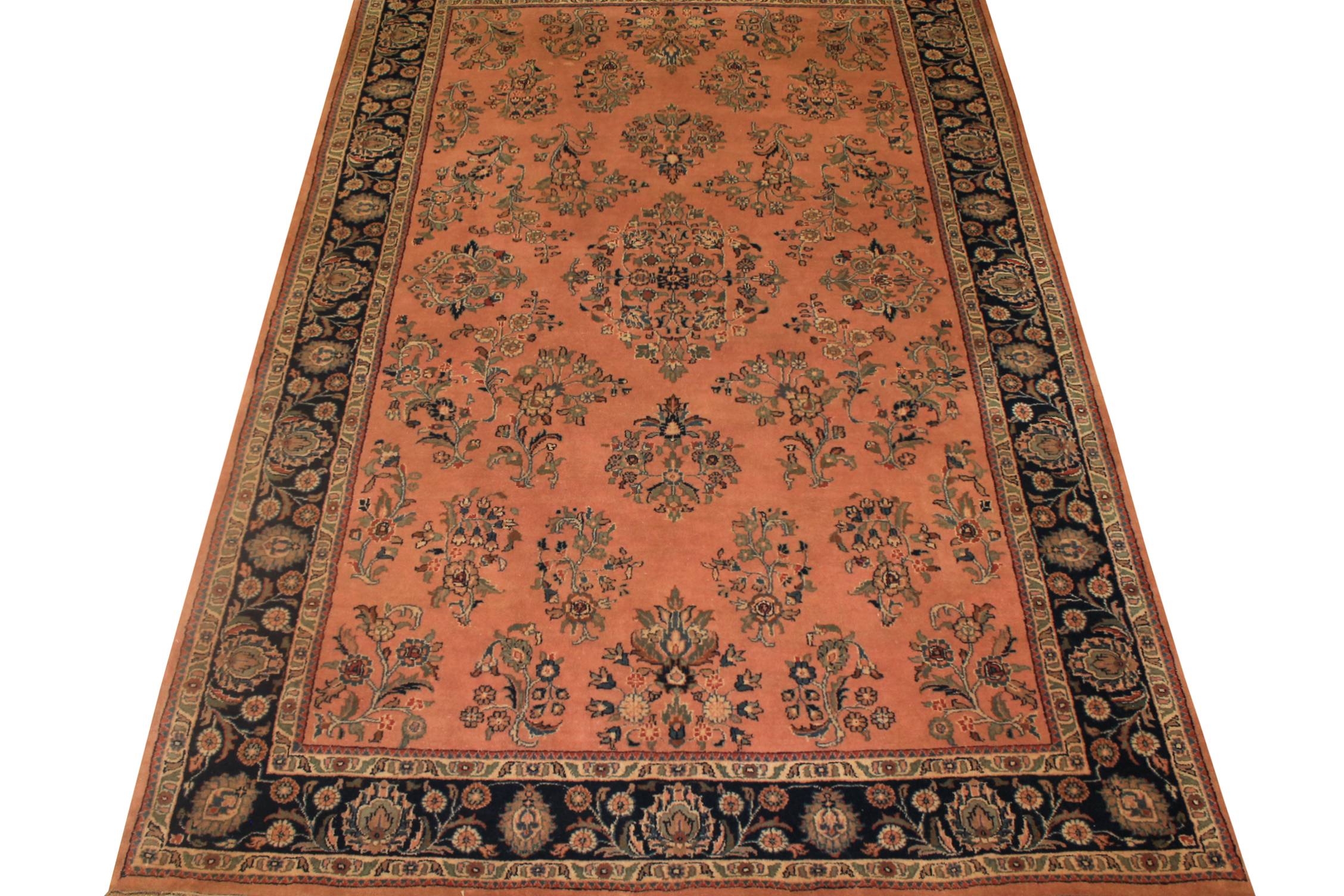 6x9 Traditional Hand Knotted Wool Area Rug - MR0712