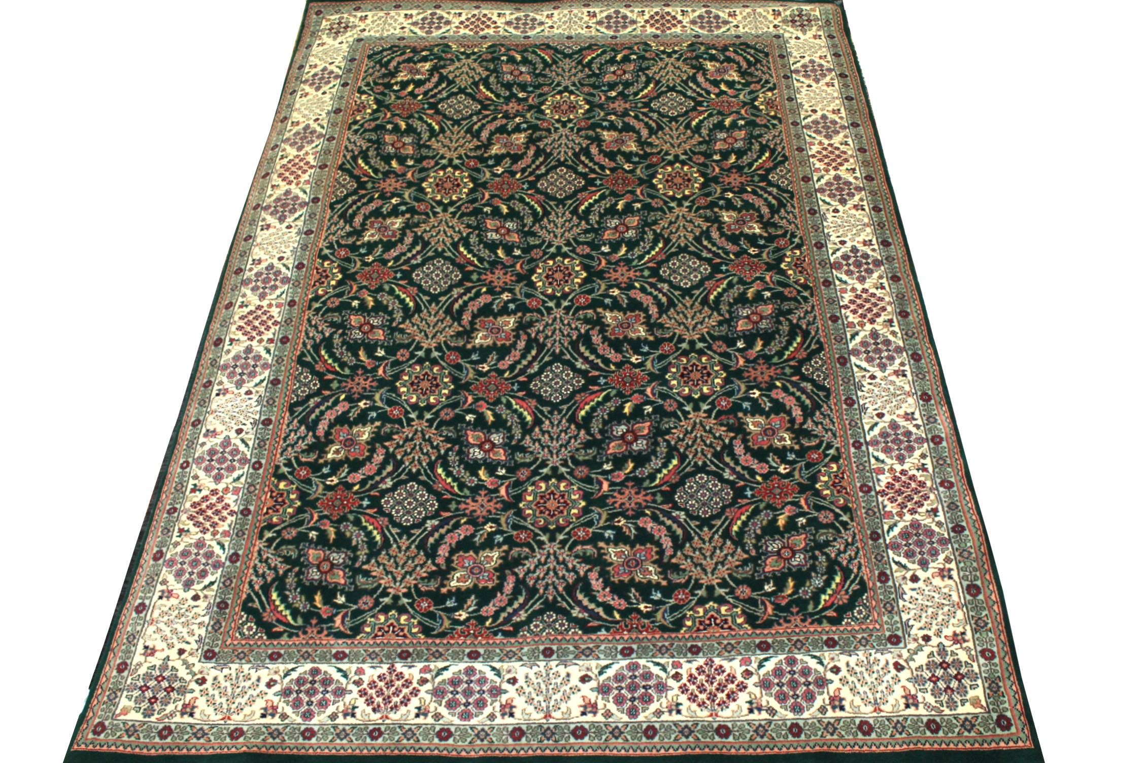 6x9 Traditional Hand Knotted Wool Area Rug - MR0722