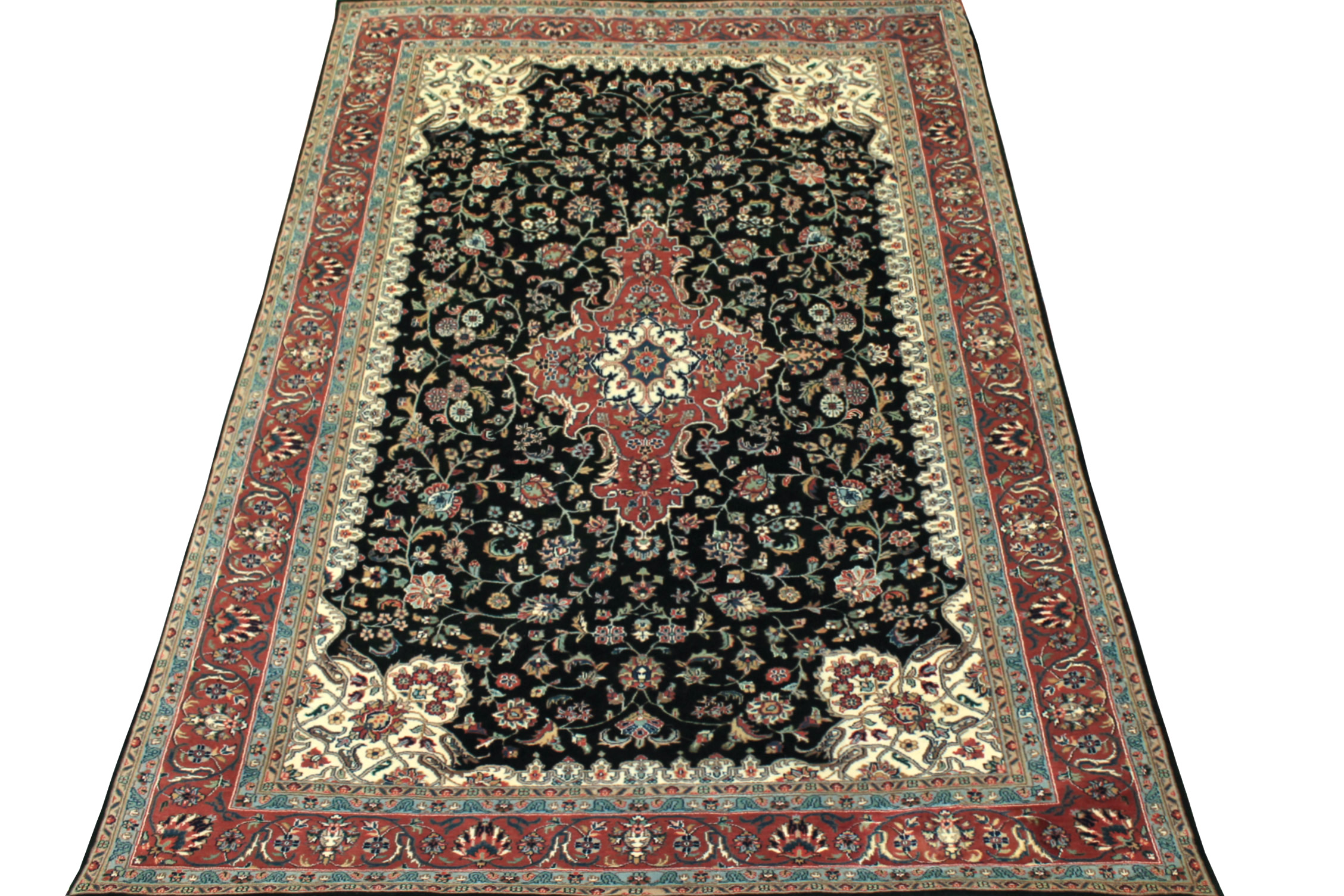 6x9 Traditional Hand Knotted Wool Area Rug - MR0728