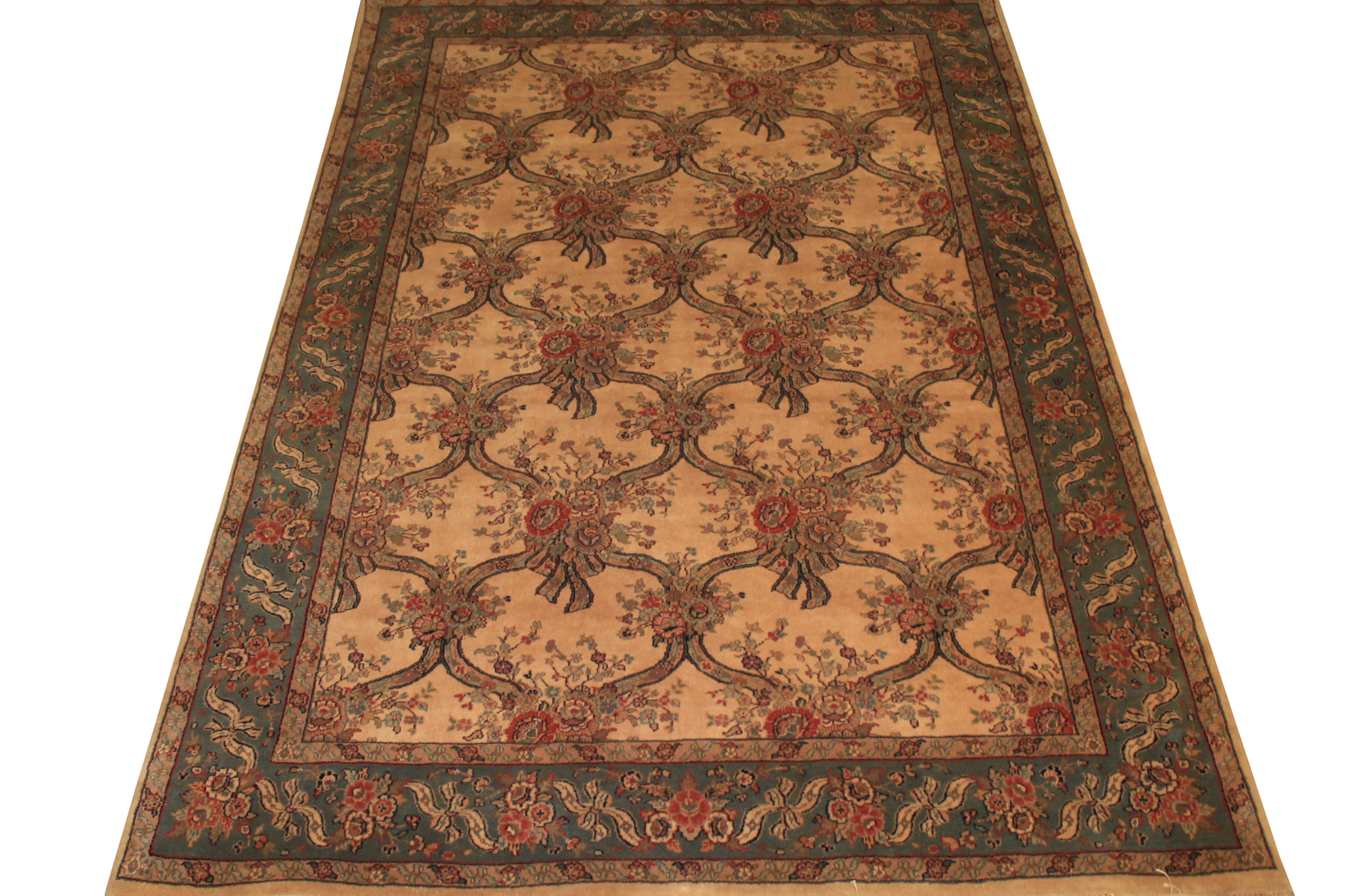 6x9 Traditional Hand Knotted Wool Area Rug - MR0731