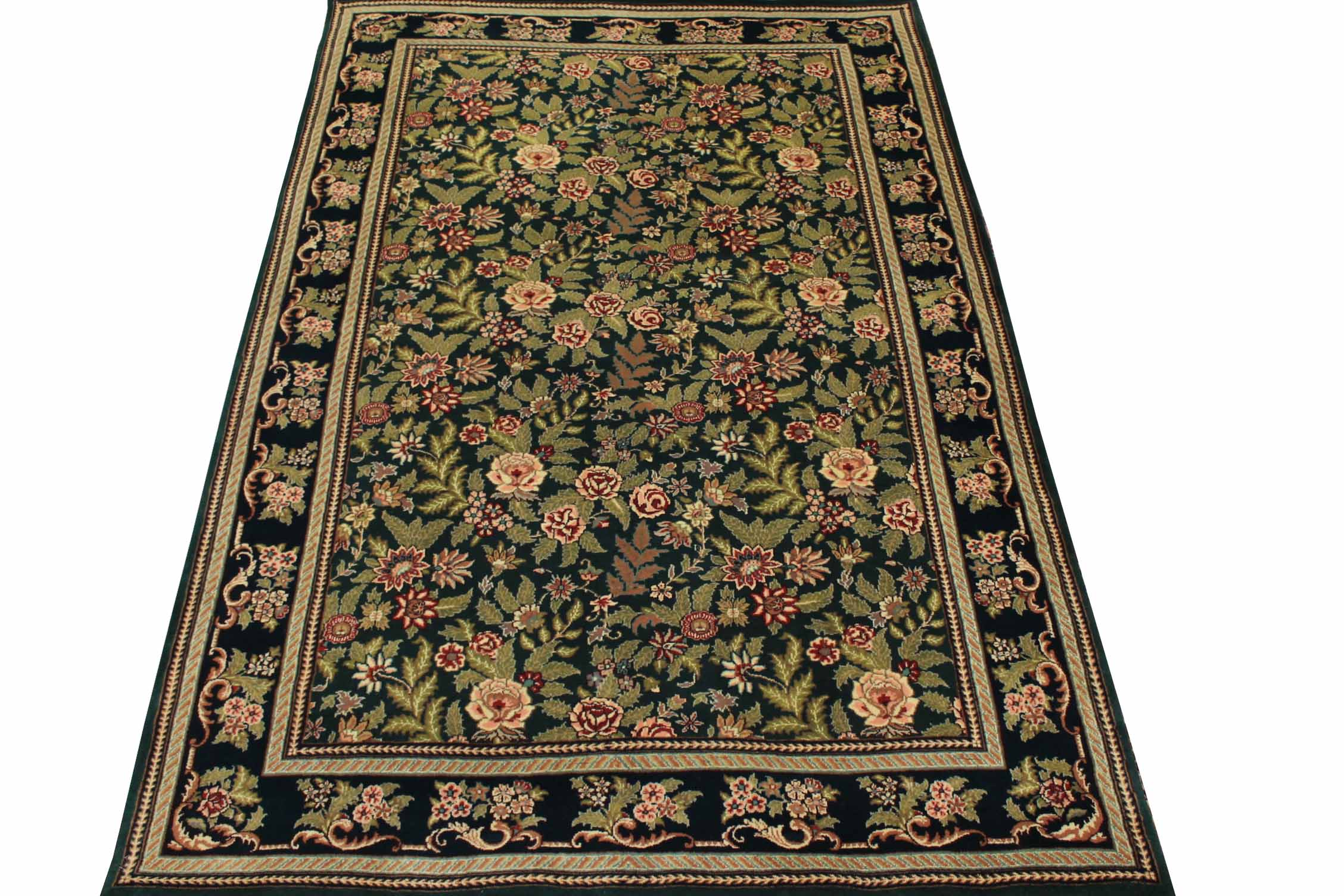 6x9 Traditional Hand Knotted Wool Area Rug - MR0734