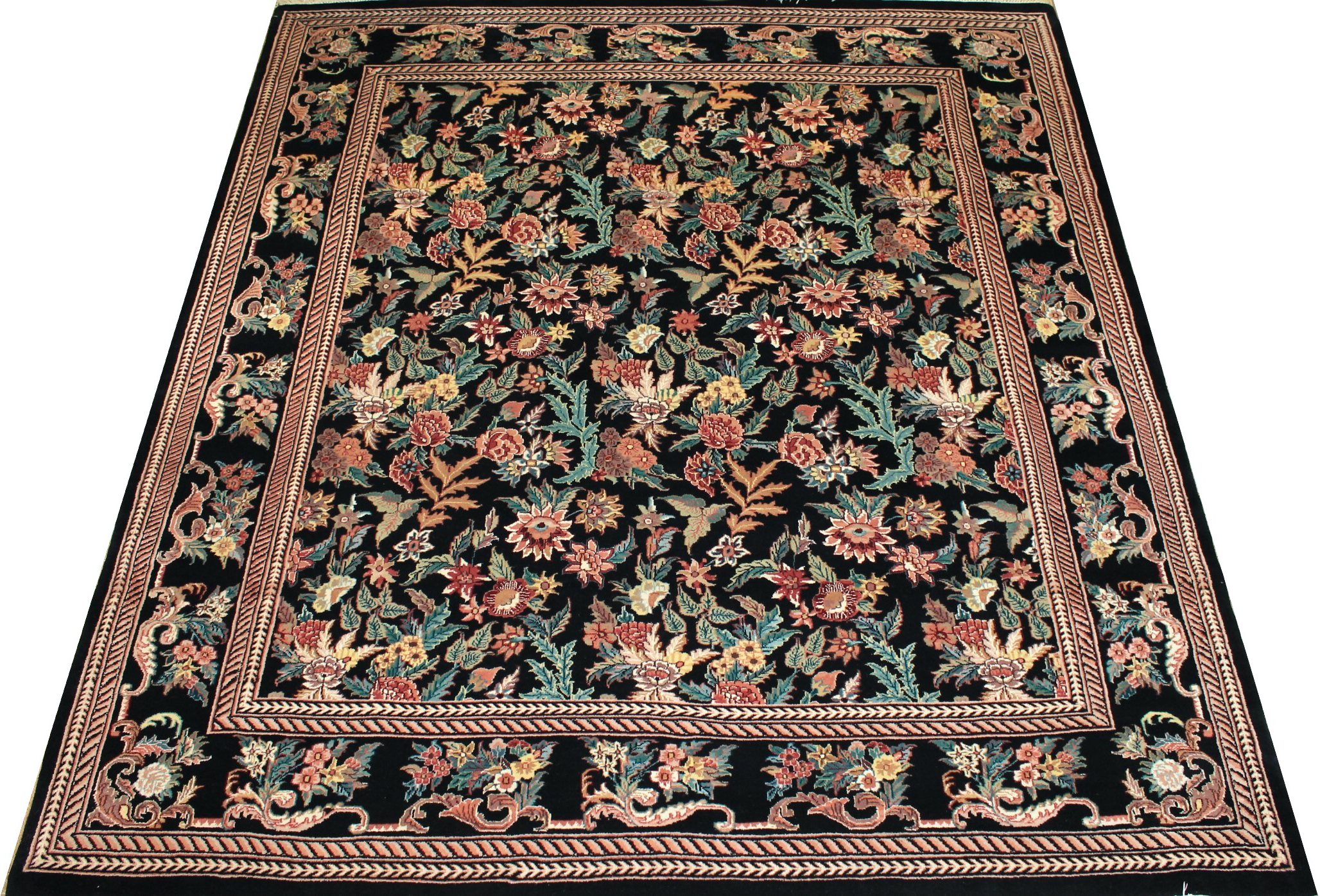 8x10 Traditional Hand Knotted Wool Area Rug - MR0753