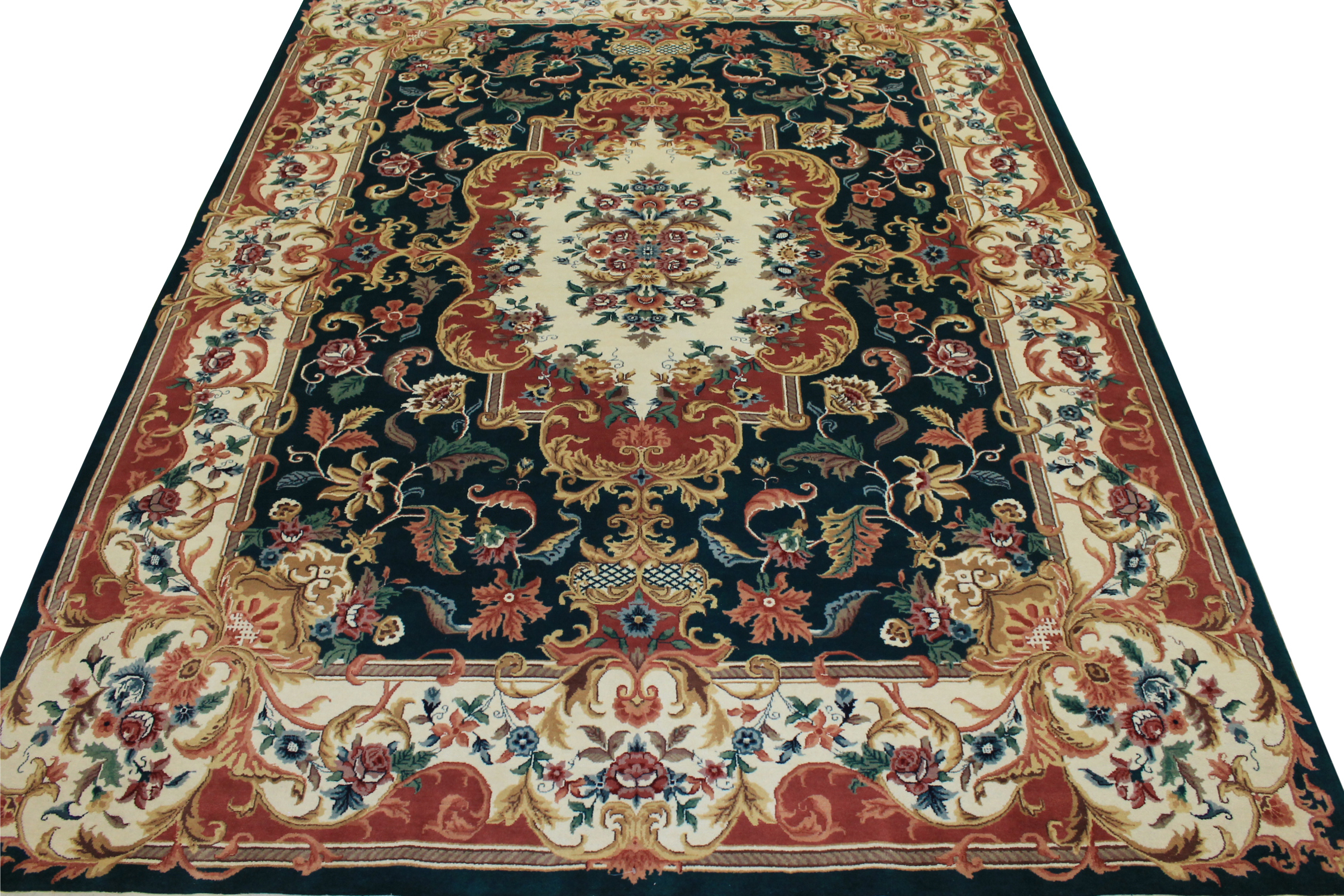9x12 Traditional Hand Knotted Wool Area Rug - MR0771
