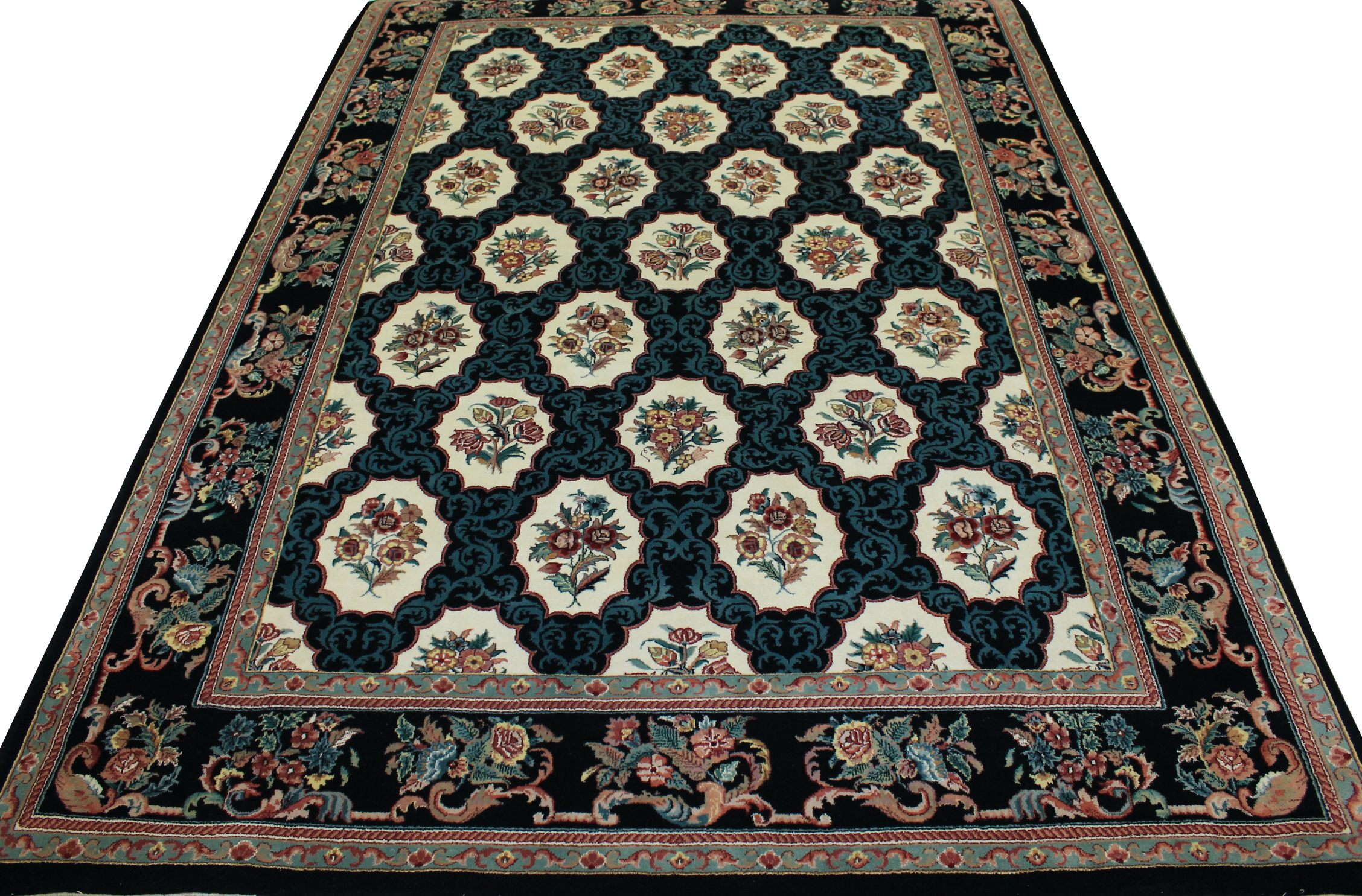 9x12 Traditional Hand Knotted Wool Area Rug - MR0774