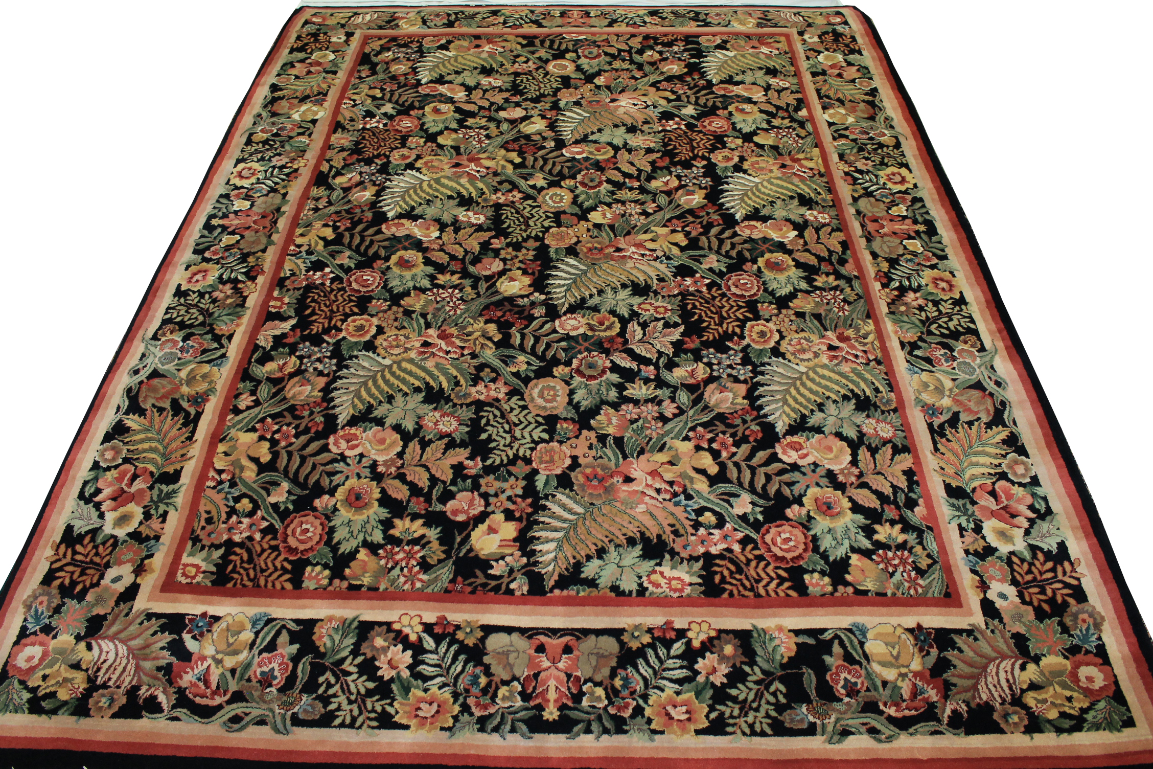 9x12 Traditional Hand Knotted Wool Area Rug - MR0775