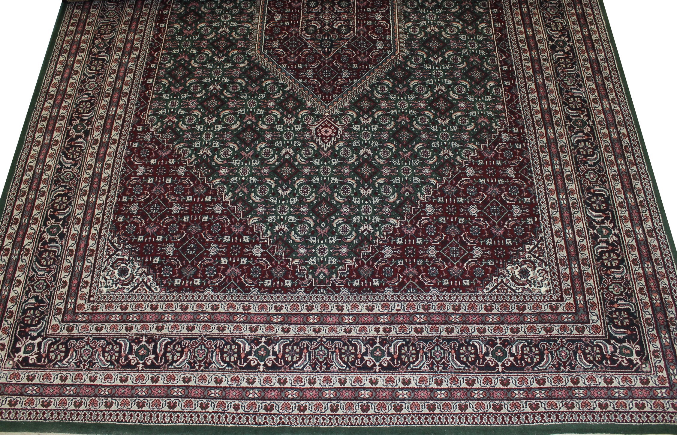 10x14 Geometric Hand Knotted Wool Area Rug - MR0809