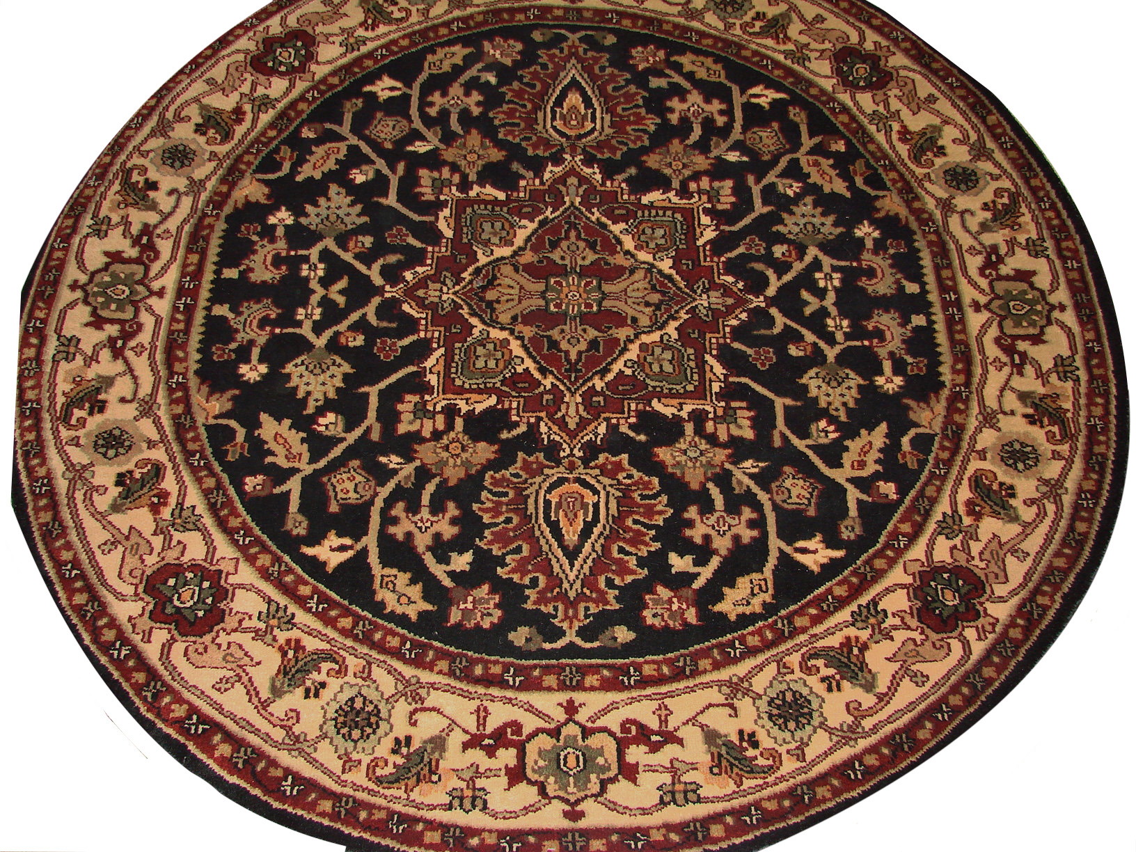 6 ft. - 7 ft. Round & Square Heriz/Serapi Hand Knotted Wool Area Rug - MR0883