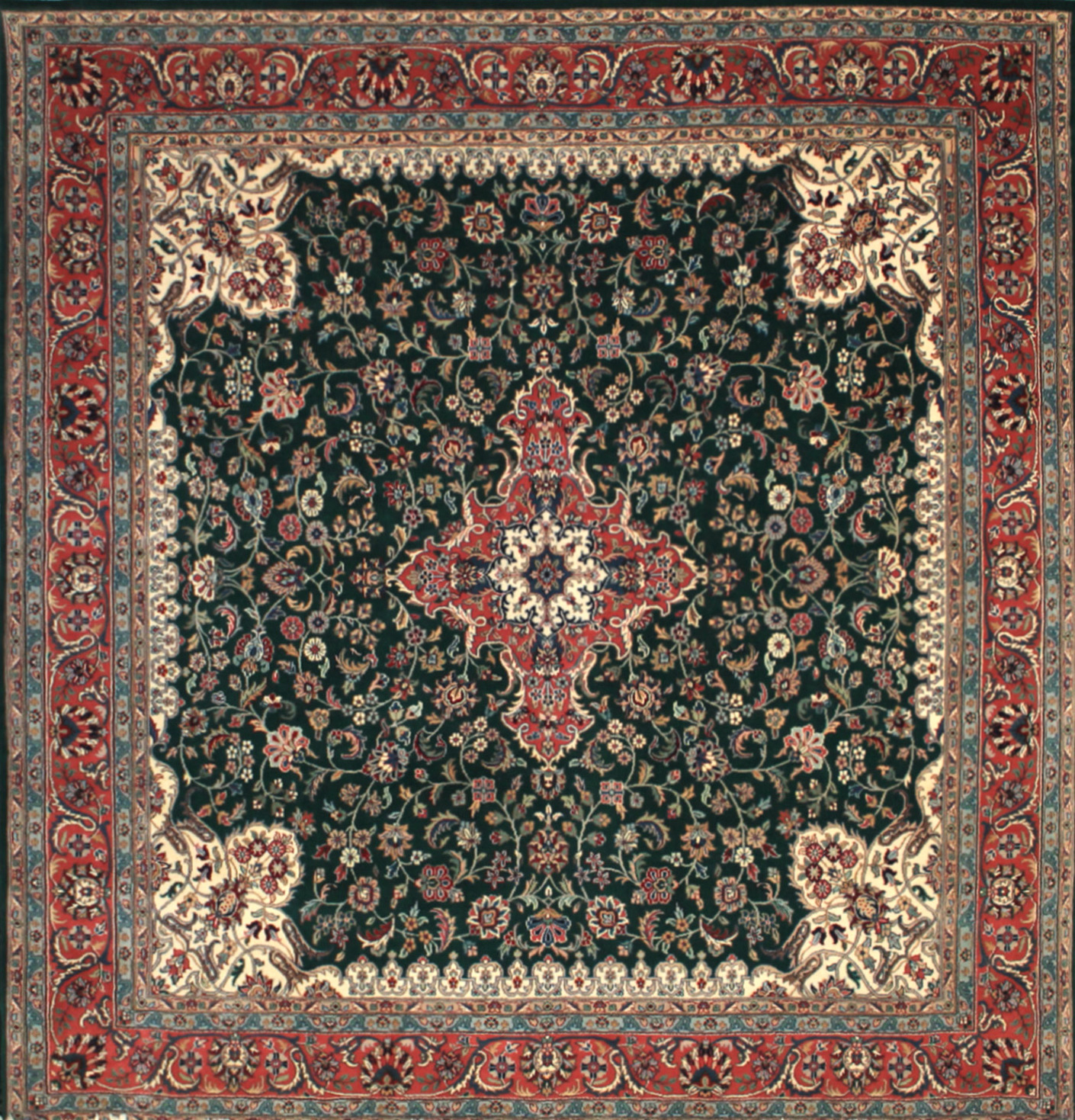 8 ft. Round & Square Traditional Hand Knotted Wool Area Rug - MR0953