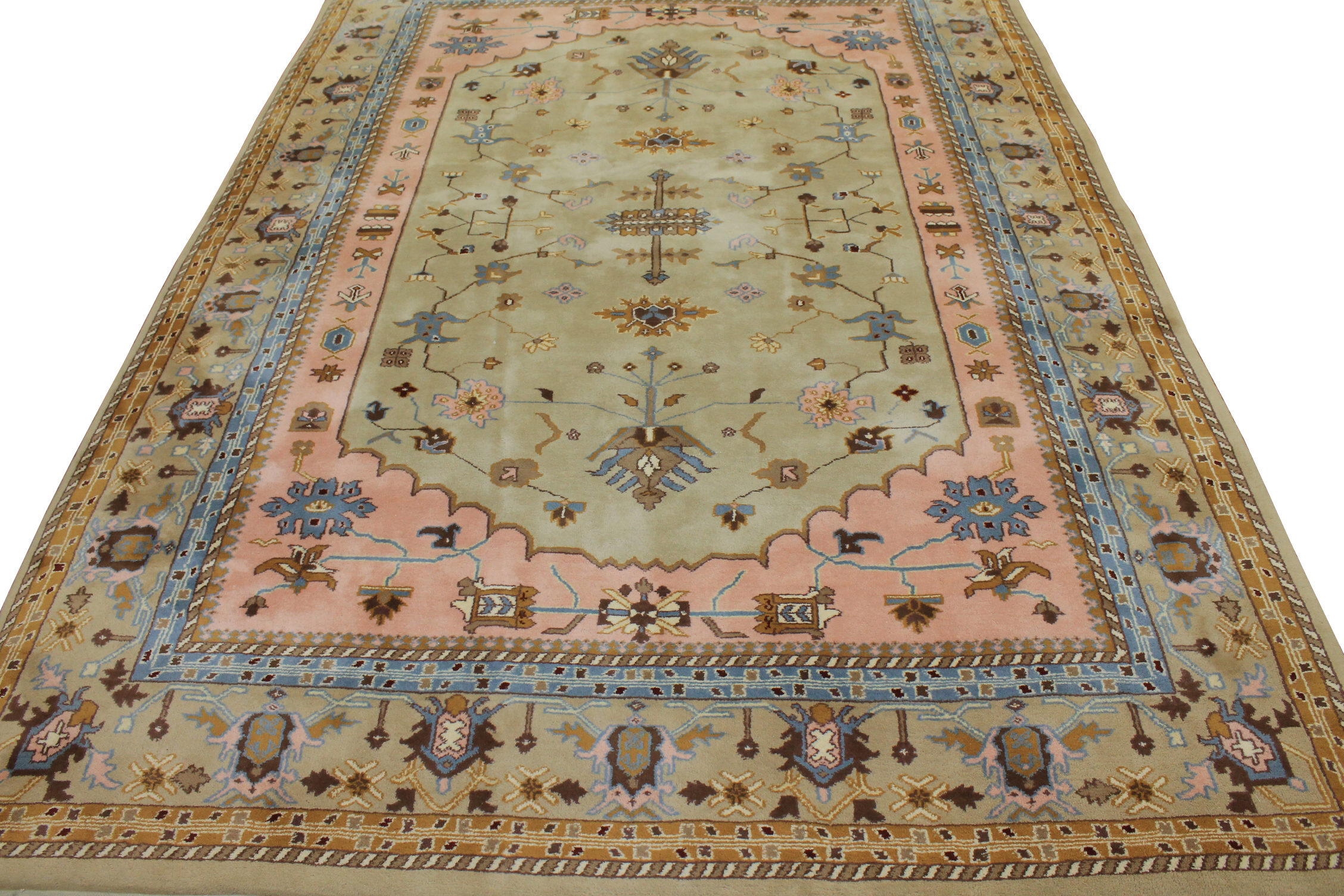 9x12 Traditional Hand Knotted Wool Area Rug - MR0988