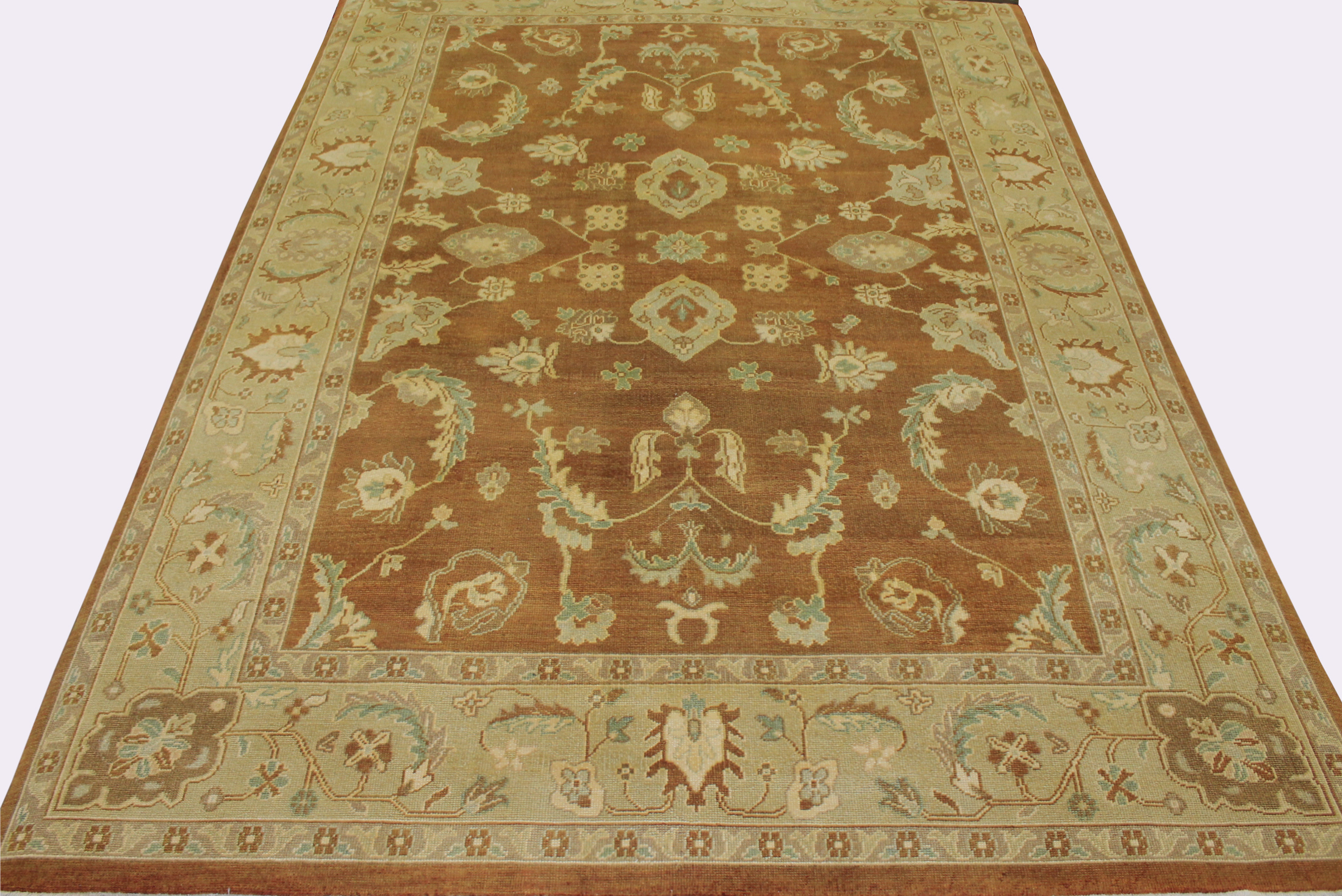 9x12 Oushak Hand Knotted Wool Area Rug - MR10020