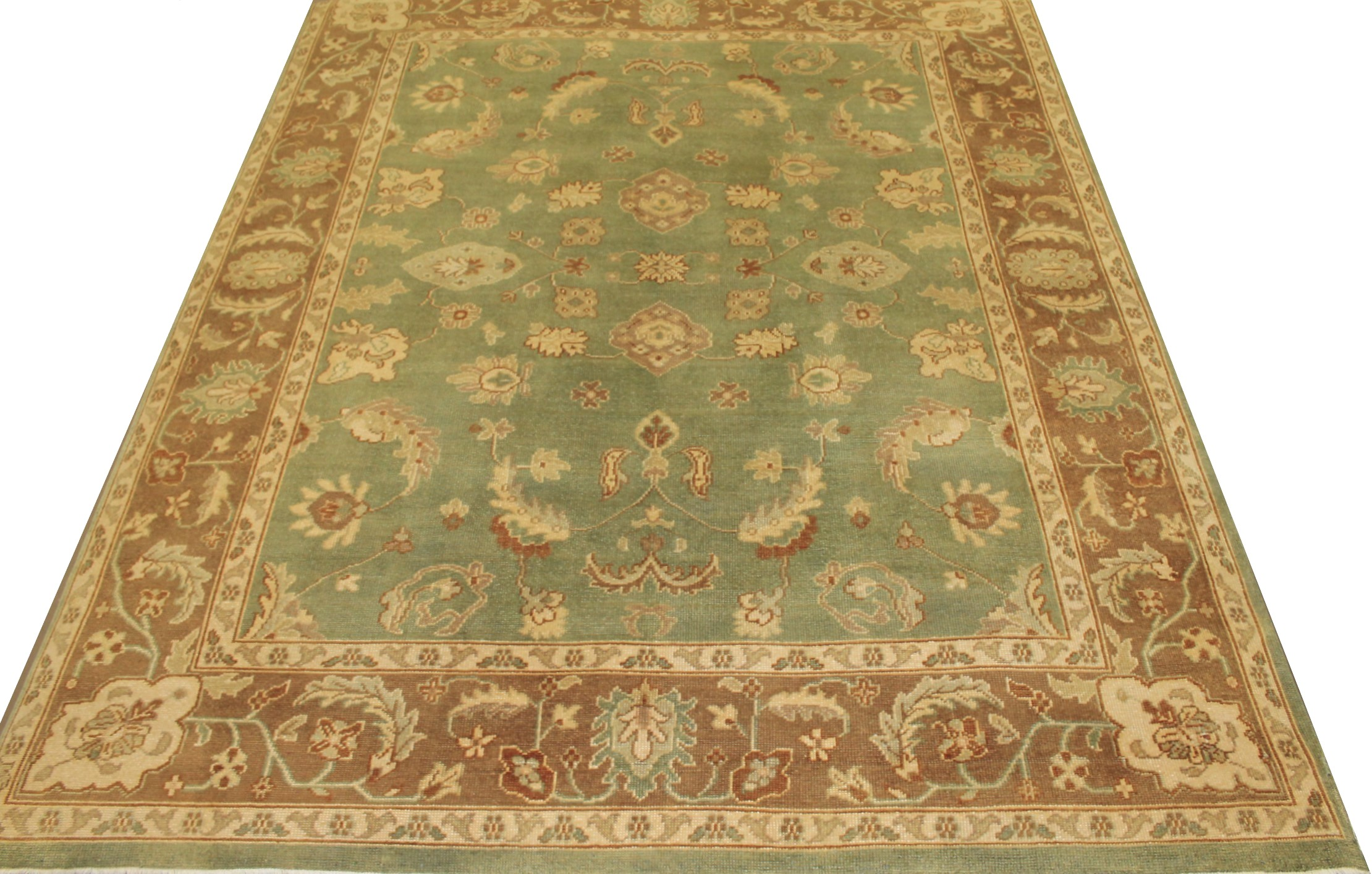 8x10 Oushak Hand Knotted Wool Area Rug - MR10088