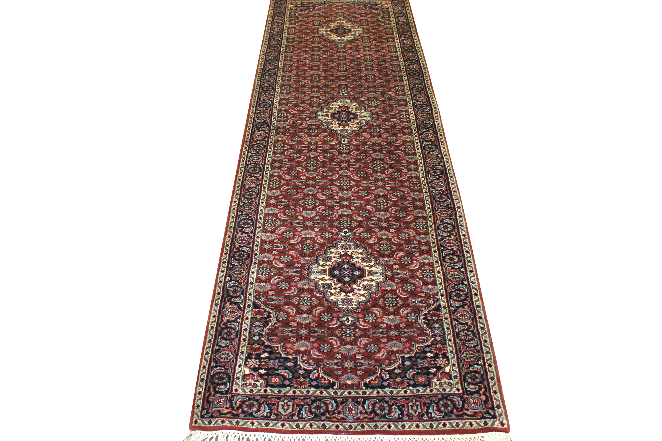 10 ft. Runner Traditional Hand Knotted Wool Area Rug - MR1014