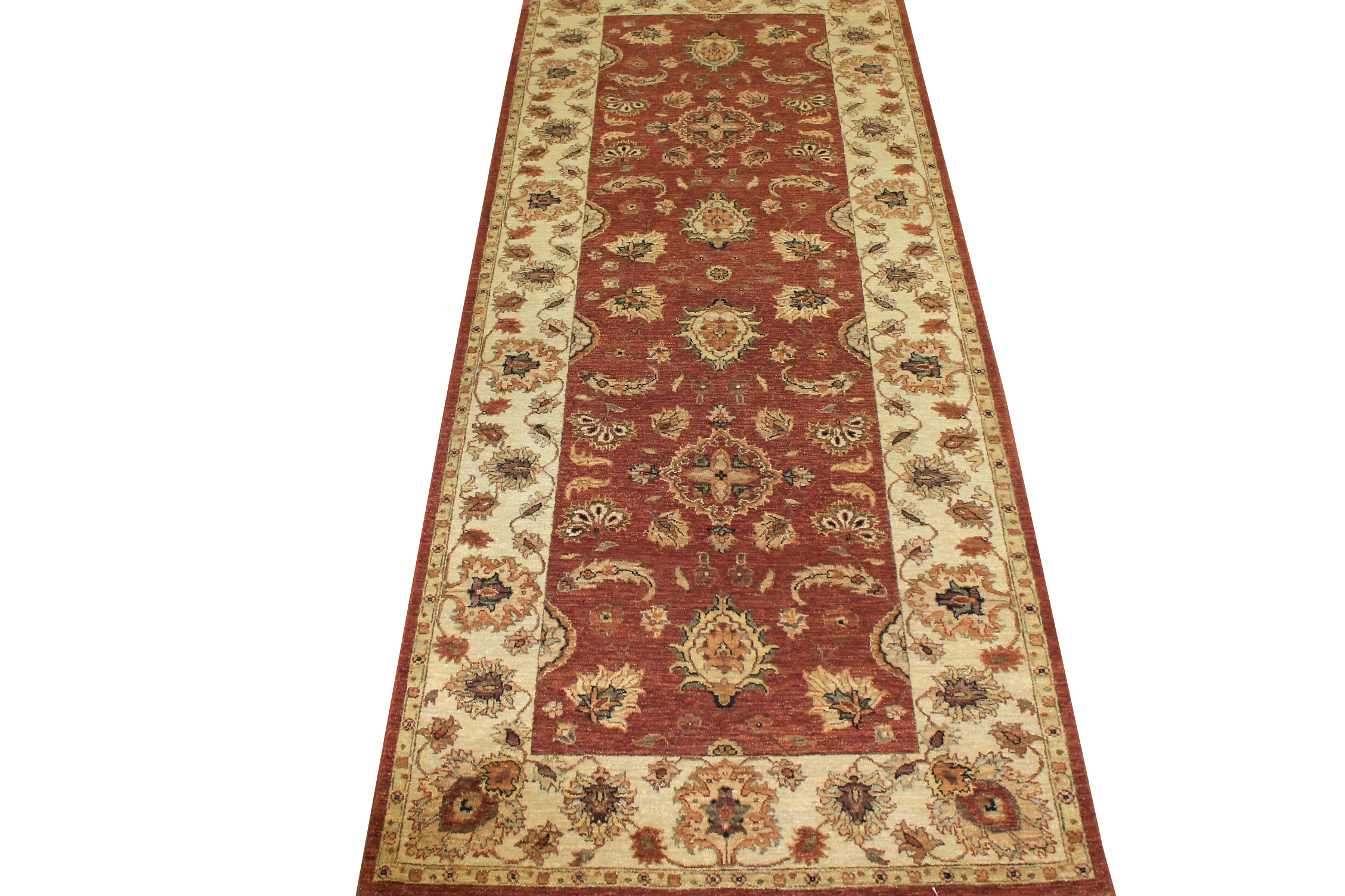 Wide Runner Traditional Hand Knotted Wool Area Rug - MR10191