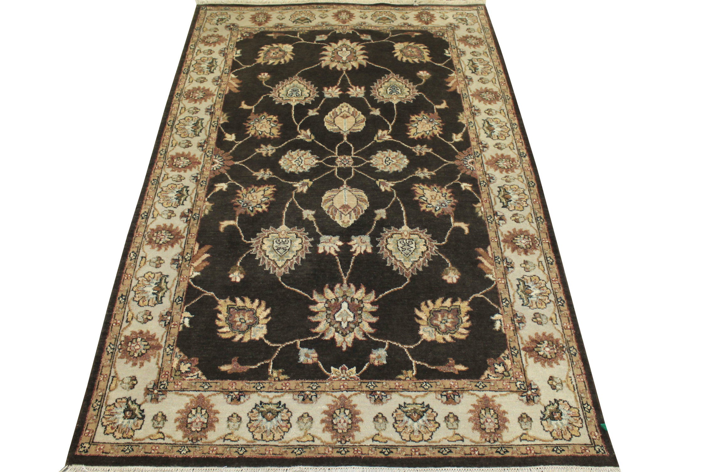 4x6 Peshawar Hand Knotted Wool Area Rug - MR10293