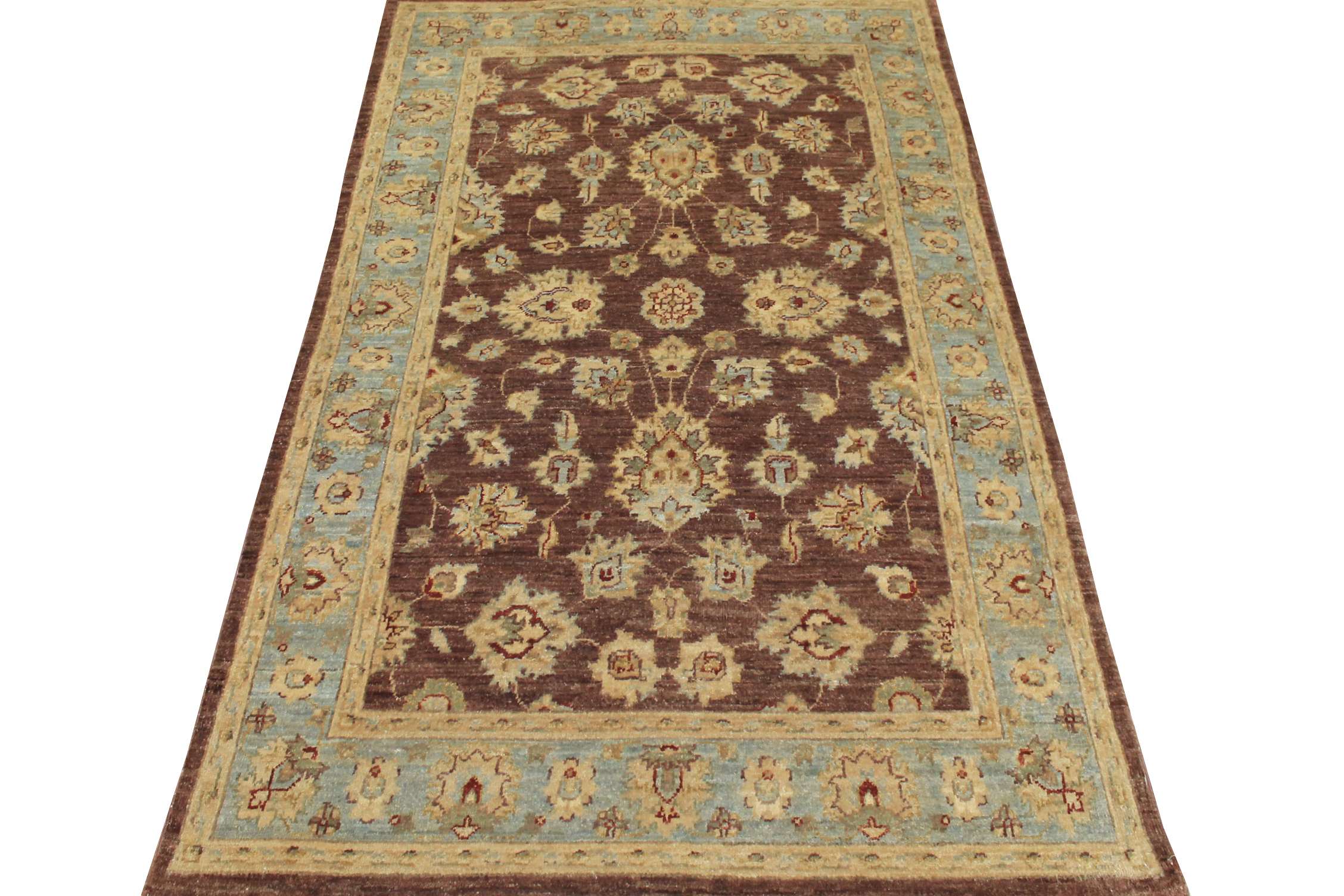 4x6 Peshawar Hand Knotted Wool Area Rug - MR10295