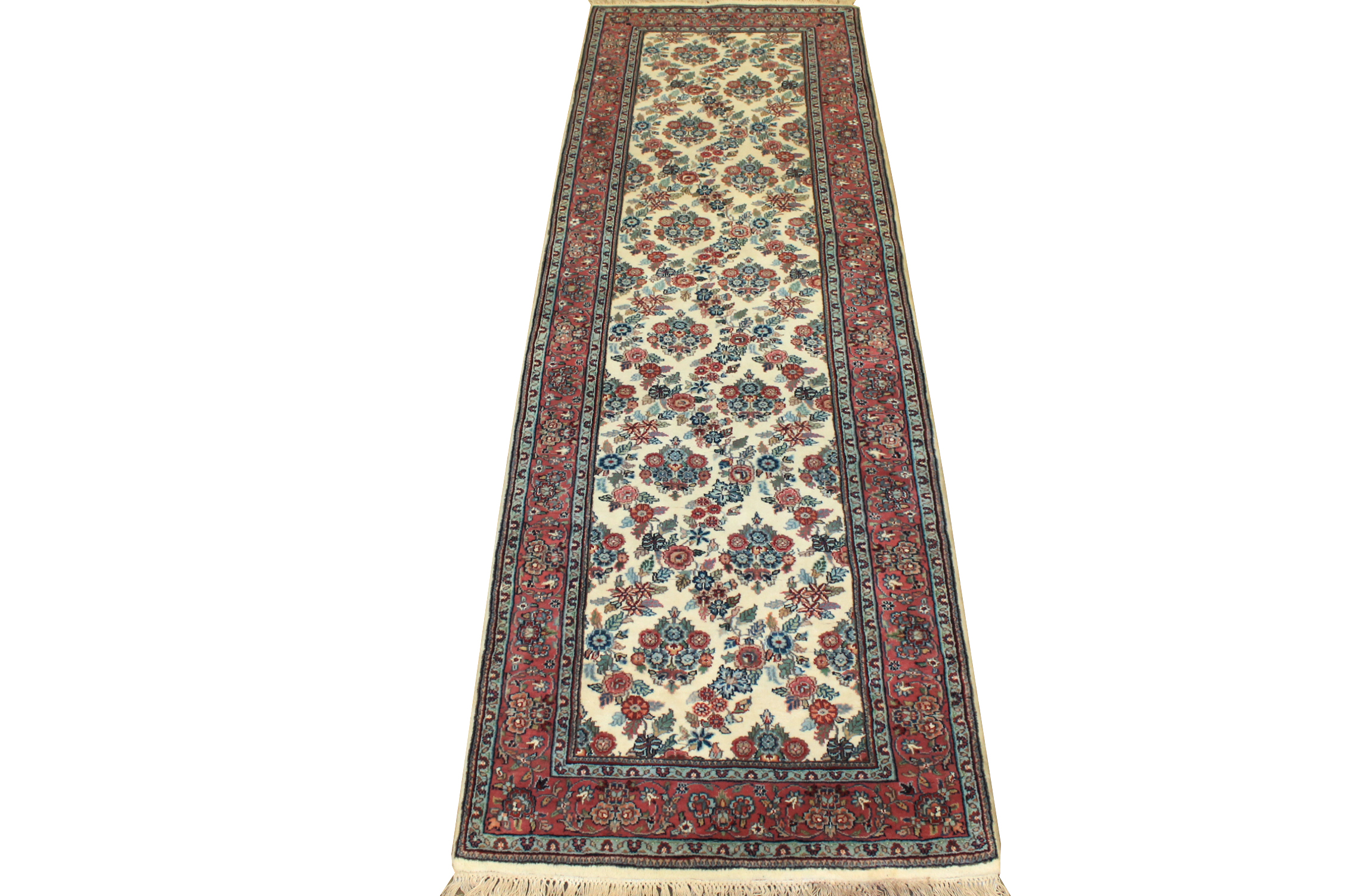 10 ft. Runner Traditional Hand Knotted Wool Area Rug - MR1037