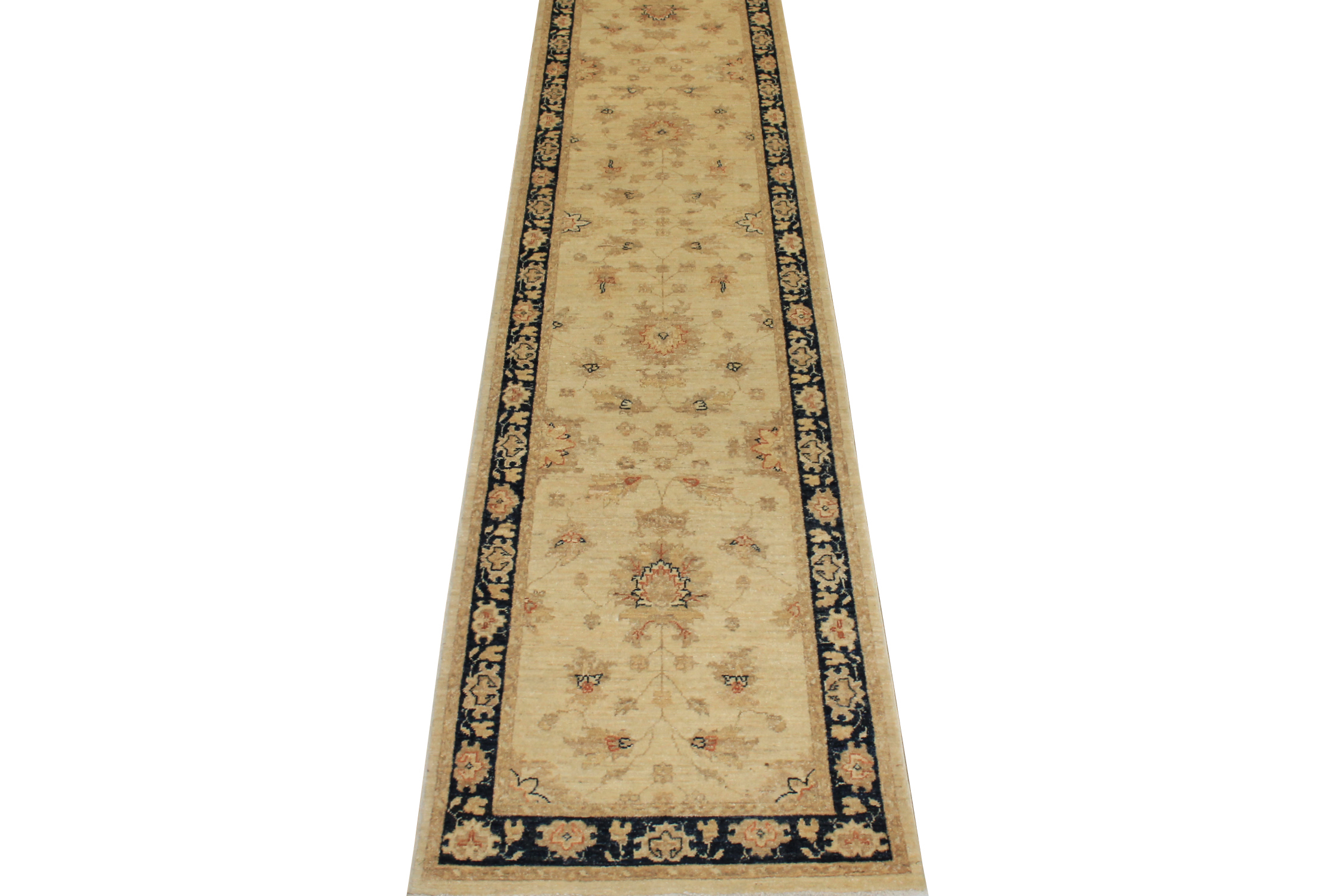 12 ft. Runner Peshawar Hand Knotted Wool Area Rug - MR10630