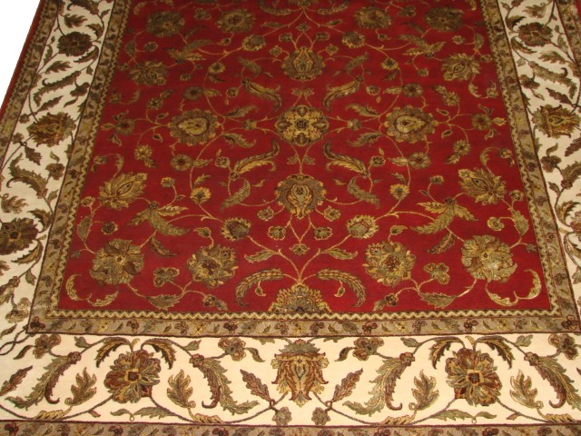 9 ft. & Over Round & Square Silk Flower Hand Knotted Wool Area Rug - MR10835