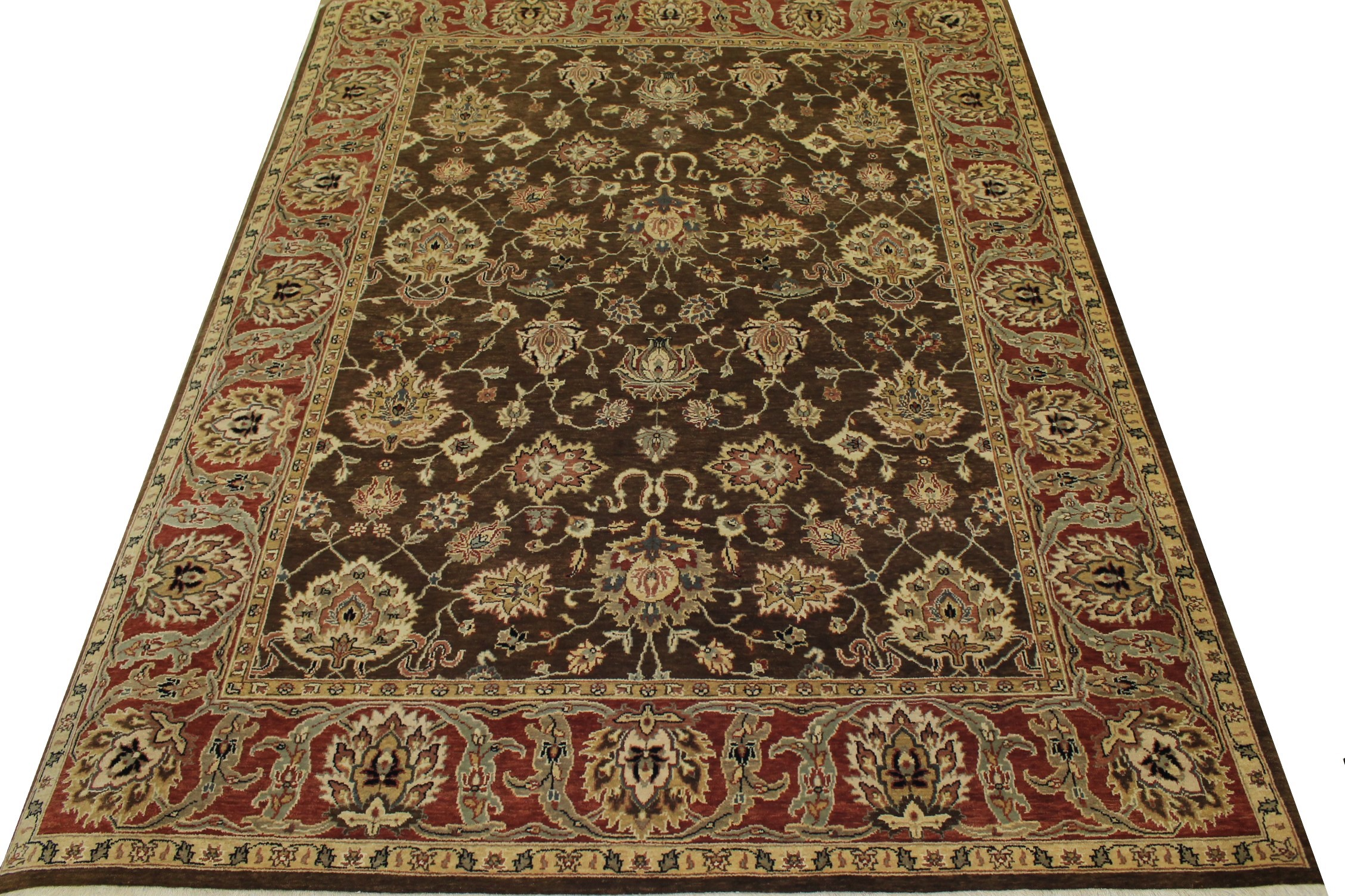 8x10 Traditional Hand Knotted Wool Area Rug - MR10871