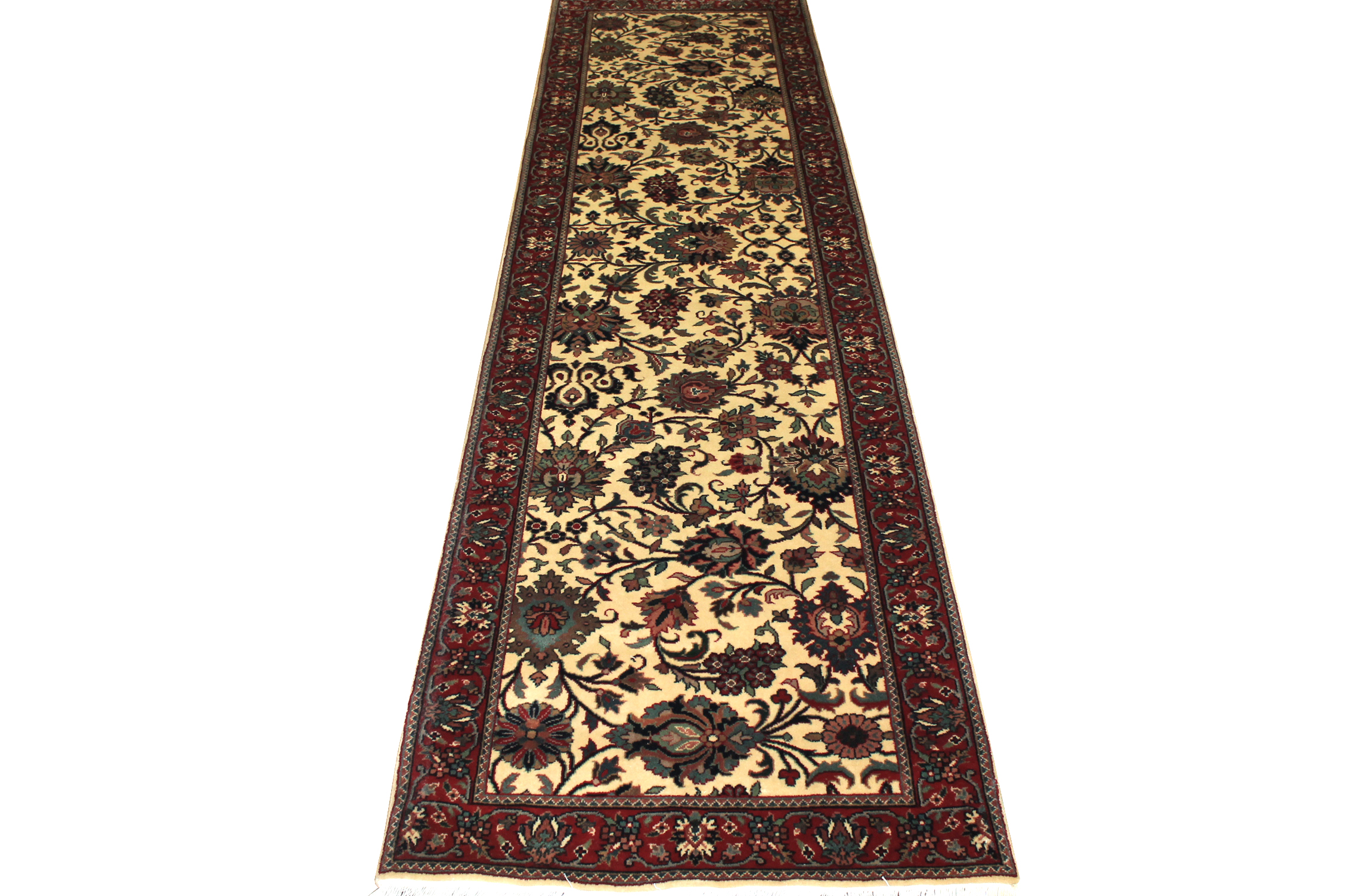 10 ft. Runner Traditional Hand Knotted Wool Area Rug - MR10883