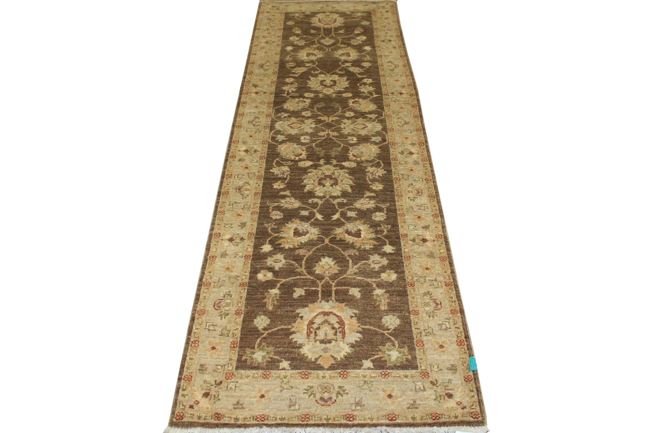 10 ft. Runner Peshawar Hand Knotted Wool Area Rug - MR10897